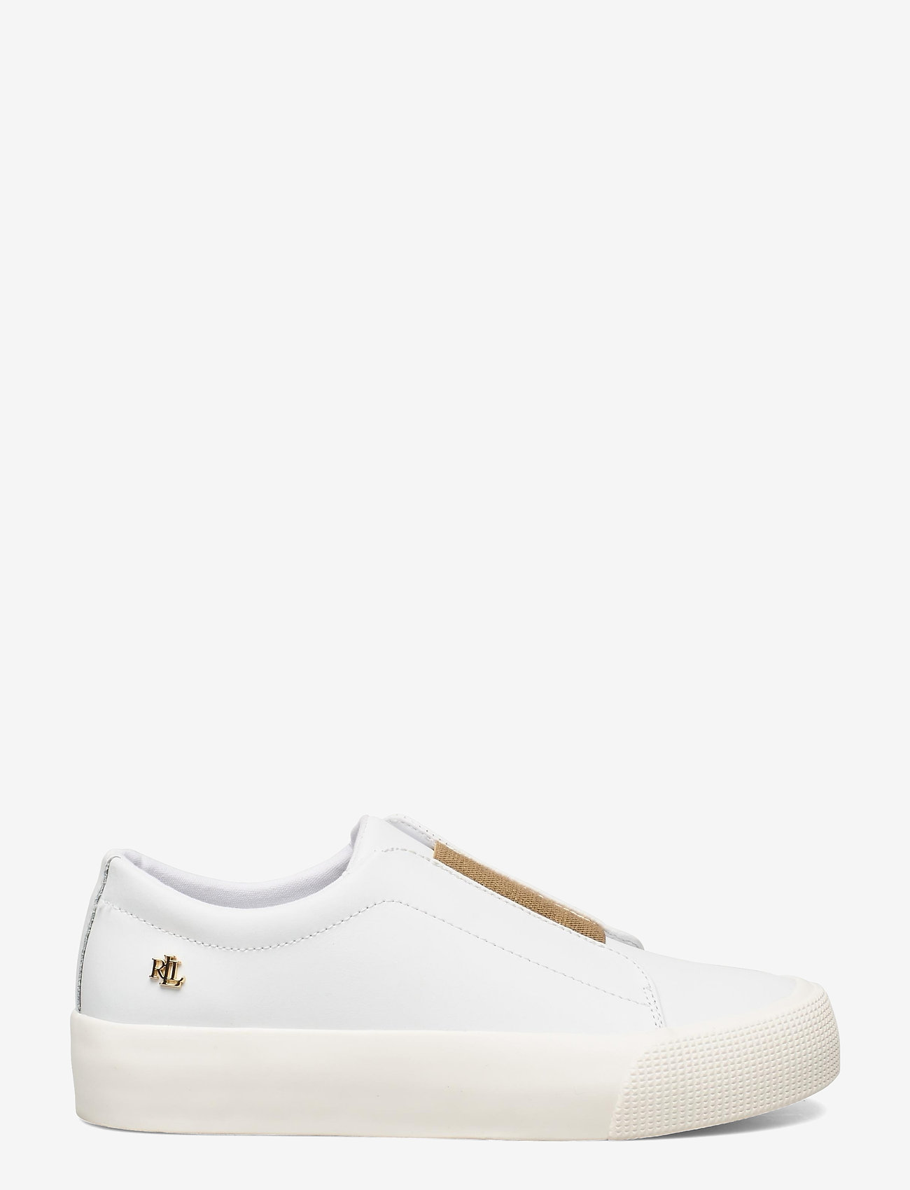 Lauren Ralph Lauren - Isla Action Leather Platform Sneaker - slip-on sneakers - rl white/modern g - 1