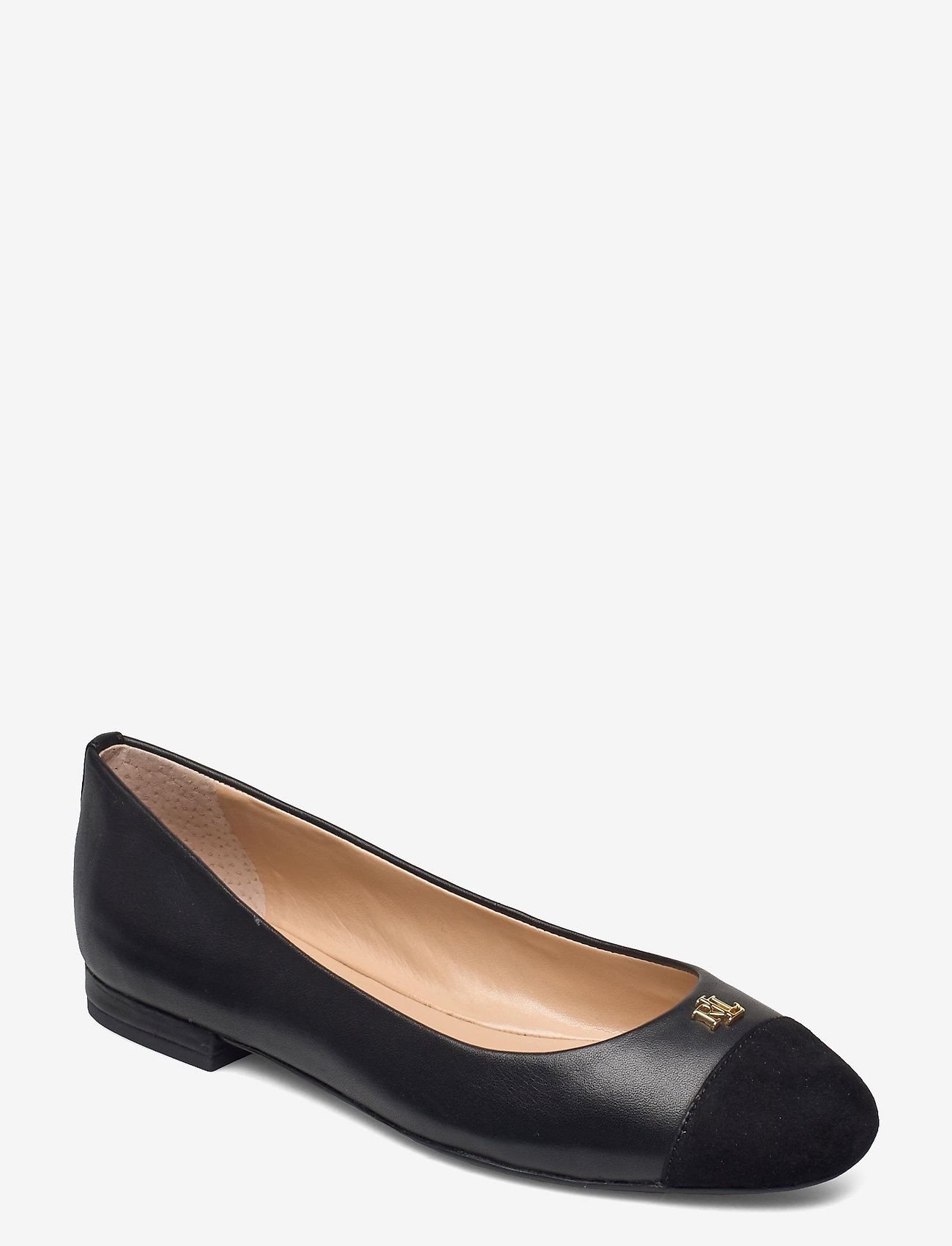 Lauren Ralph Lauren - Gaines Nappa Leather Flat - ballerinaer - black/black - 0
