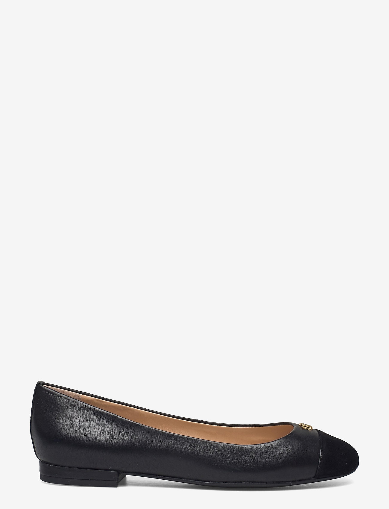 Lauren Ralph Lauren - Gaines Nappa Leather Flat - ballerinaer - black/black - 1