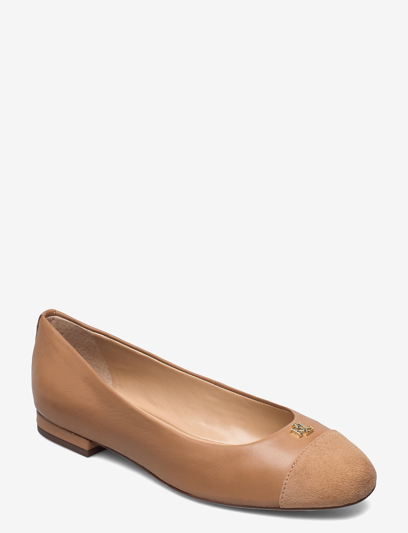 Lauren Ralph Lauren - Gaines Nappa Leather Flat - ballerinaer - nude/nude - 0