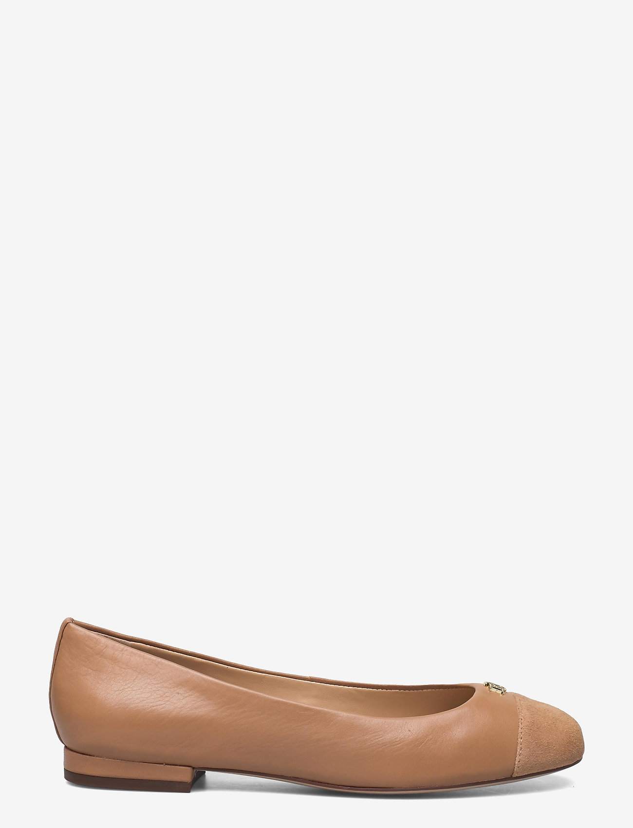 Lauren Ralph Lauren - Gaines Nappa Leather Flat - ballerinaer - nude/nude - 1
