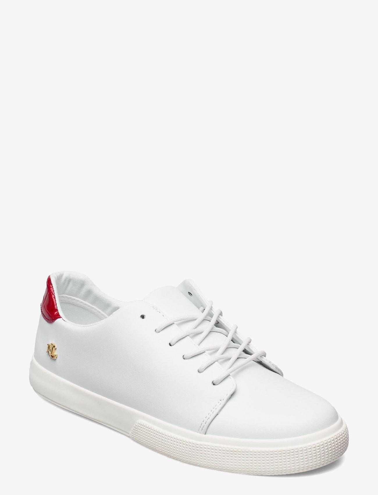 Lauren Ralph Lauren - Joana III Action Leather Sneaker - lave sneakers - rl white/candy re - 0