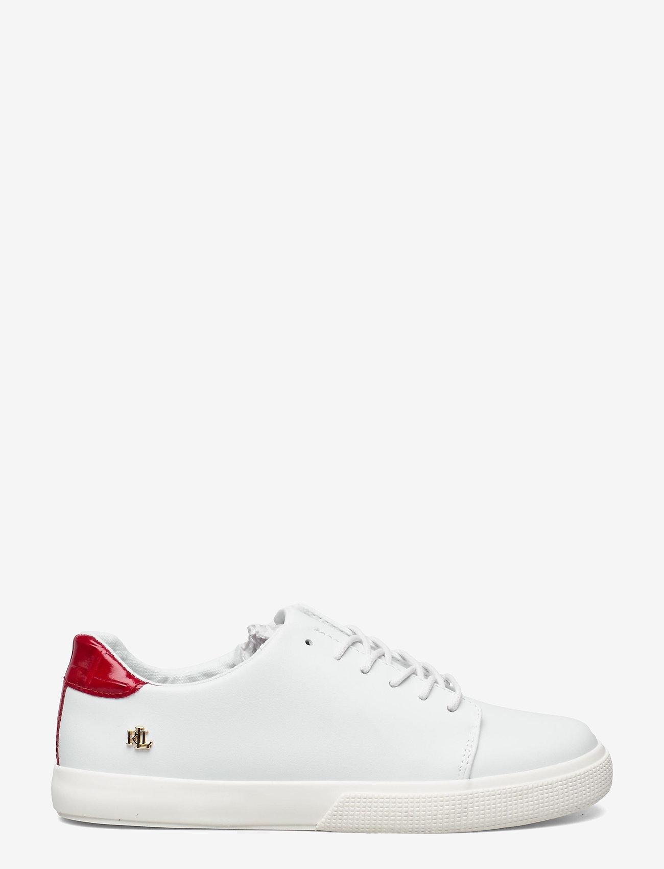 Lauren Ralph Lauren - Joana III Action Leather Sneaker - lave sneakers - rl white/candy re - 1