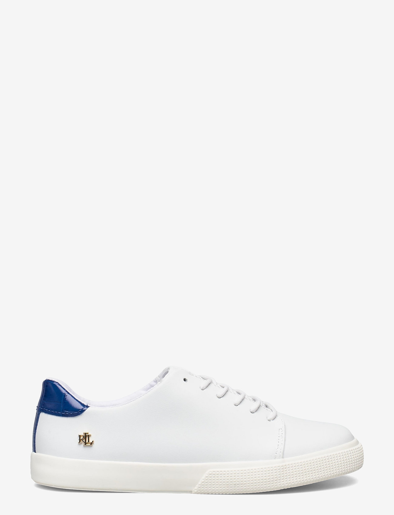 Lauren Ralph Lauren - Joana III Action Leather Sneaker - lave sneakers - rl white/pacific - 1