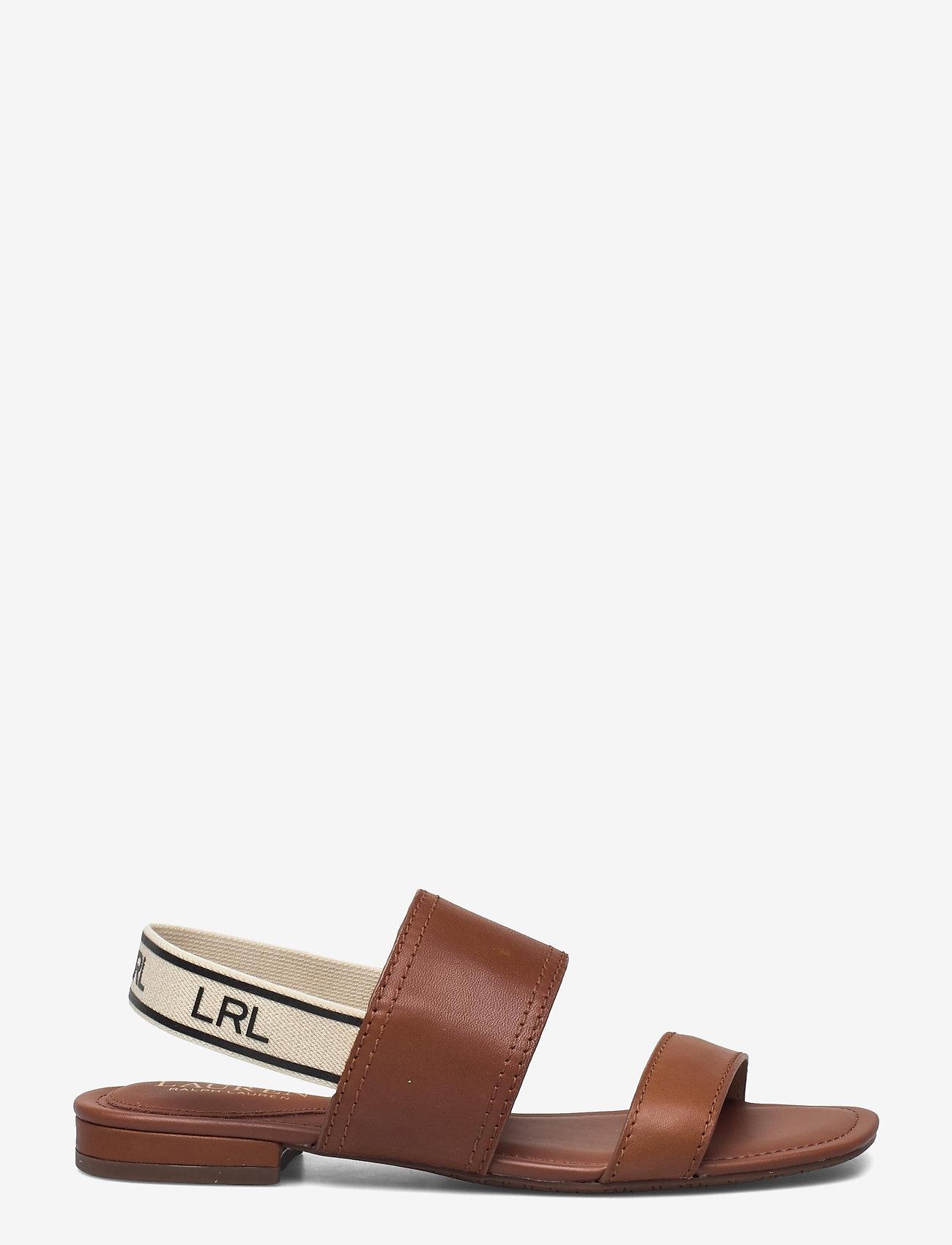 Lauren Ralph Lauren - Karter Burnished Leather Sandal - flade sandaler - deep saddle tan - 1