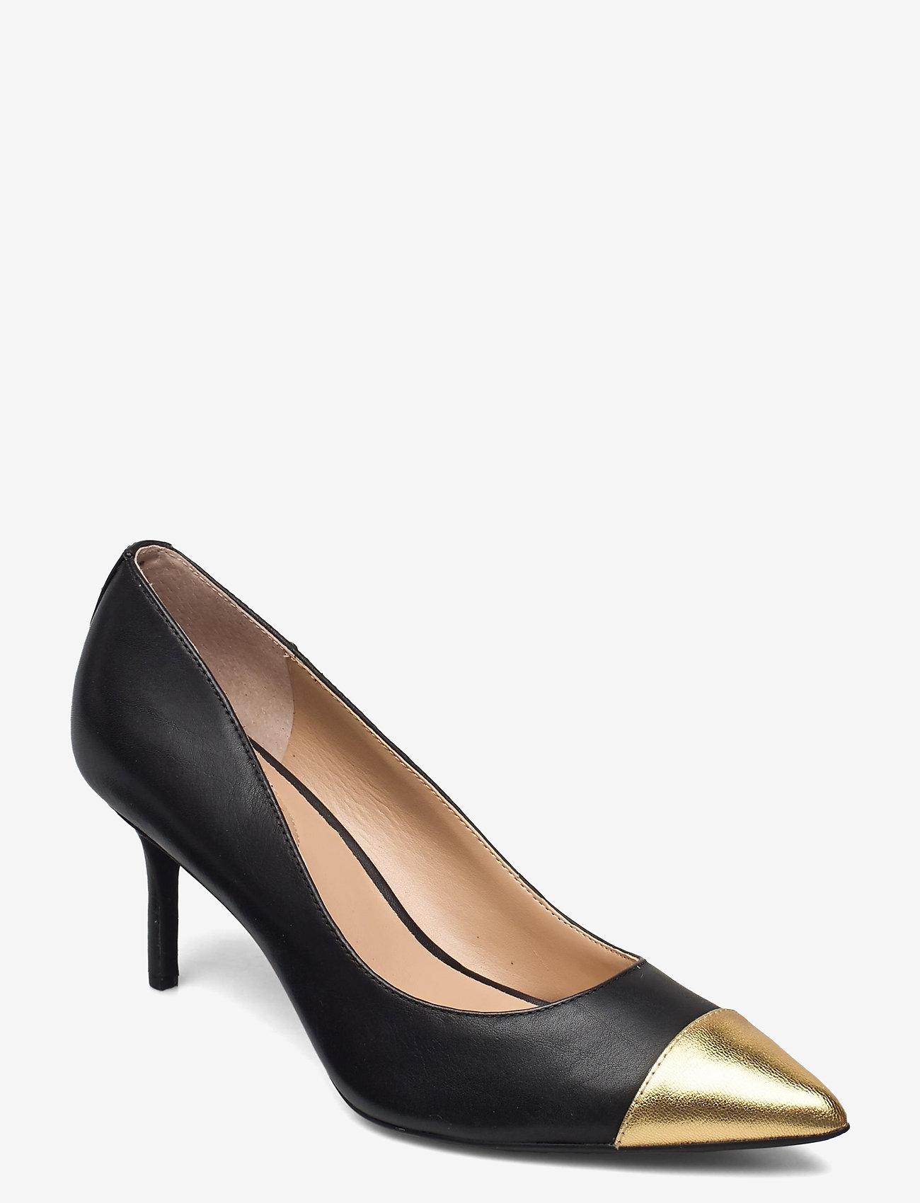 Lauren Ralph Lauren - Lanette Leather Pump - klassiske pumps - black/modern gold - 0
