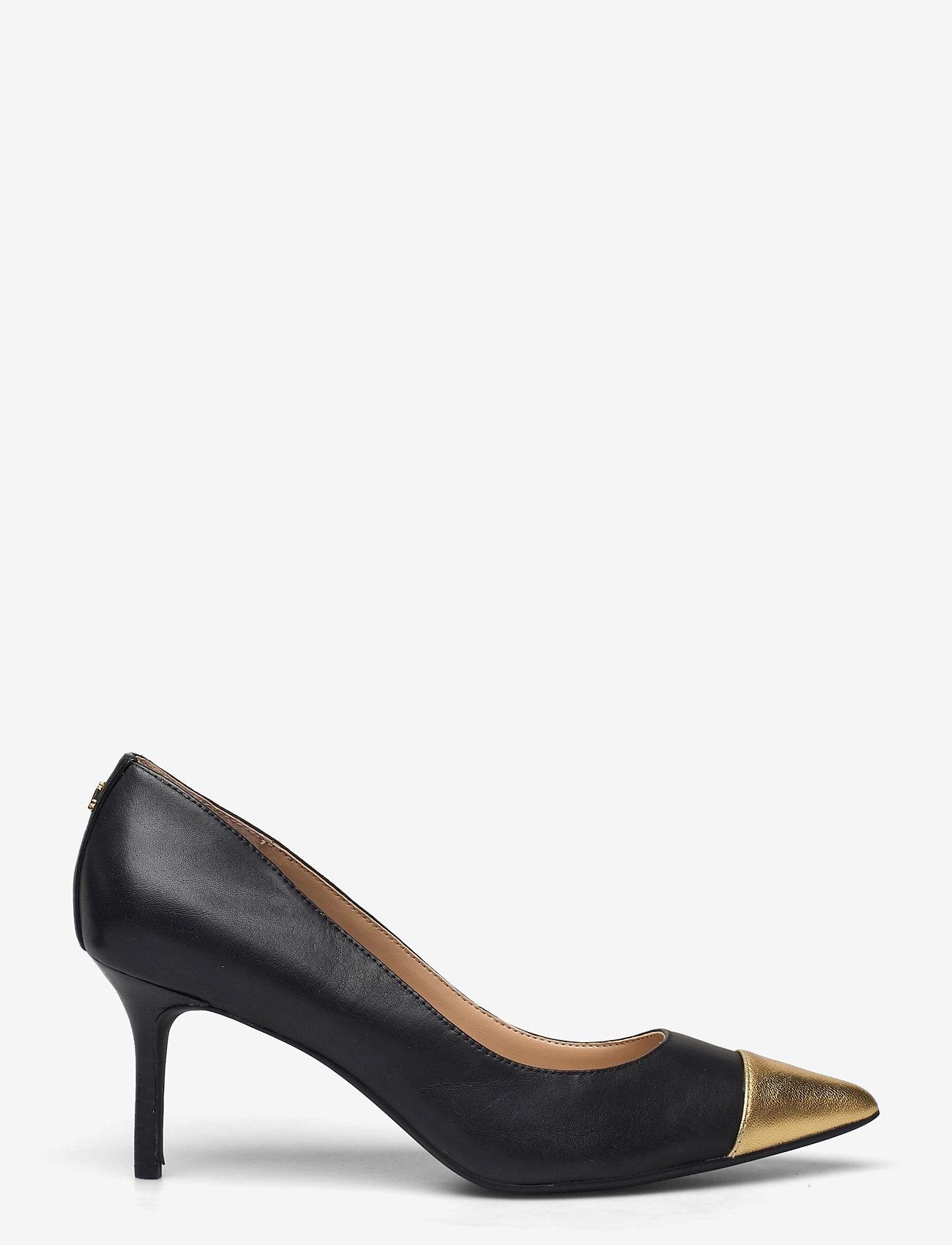 Lauren Ralph Lauren - Lanette Leather Pump - klassiske pumps - black/modern gold - 1