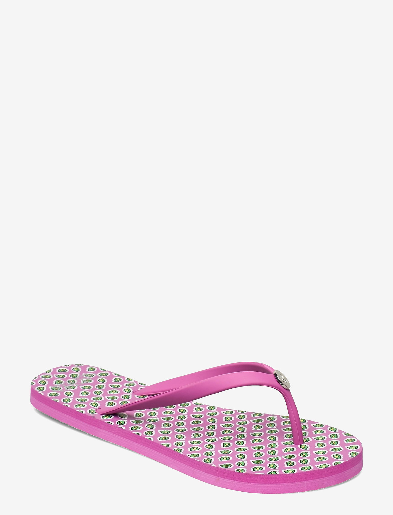 Lauren Ralph Lauren - Shawna Paisley Sandal - teenslippers - pink - 0