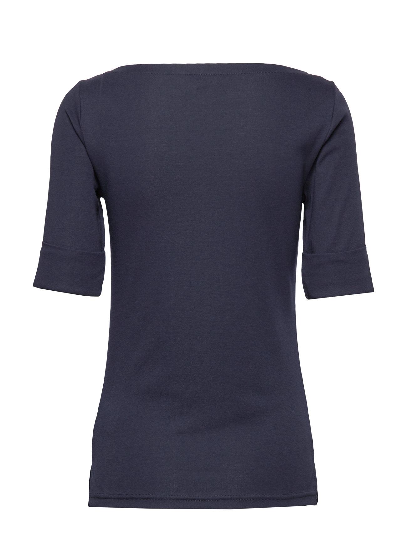 Lauren Ralph Lauren - Cotton Boatneck T-Shirt - t-shirts - lauren navy - 1