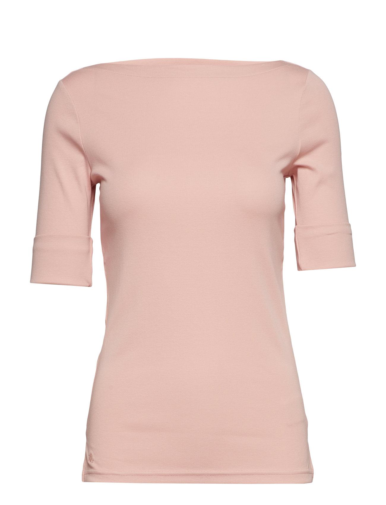 Lauren Ralph Lauren Cotton Boatneck T-Shirt - PRIMROSE