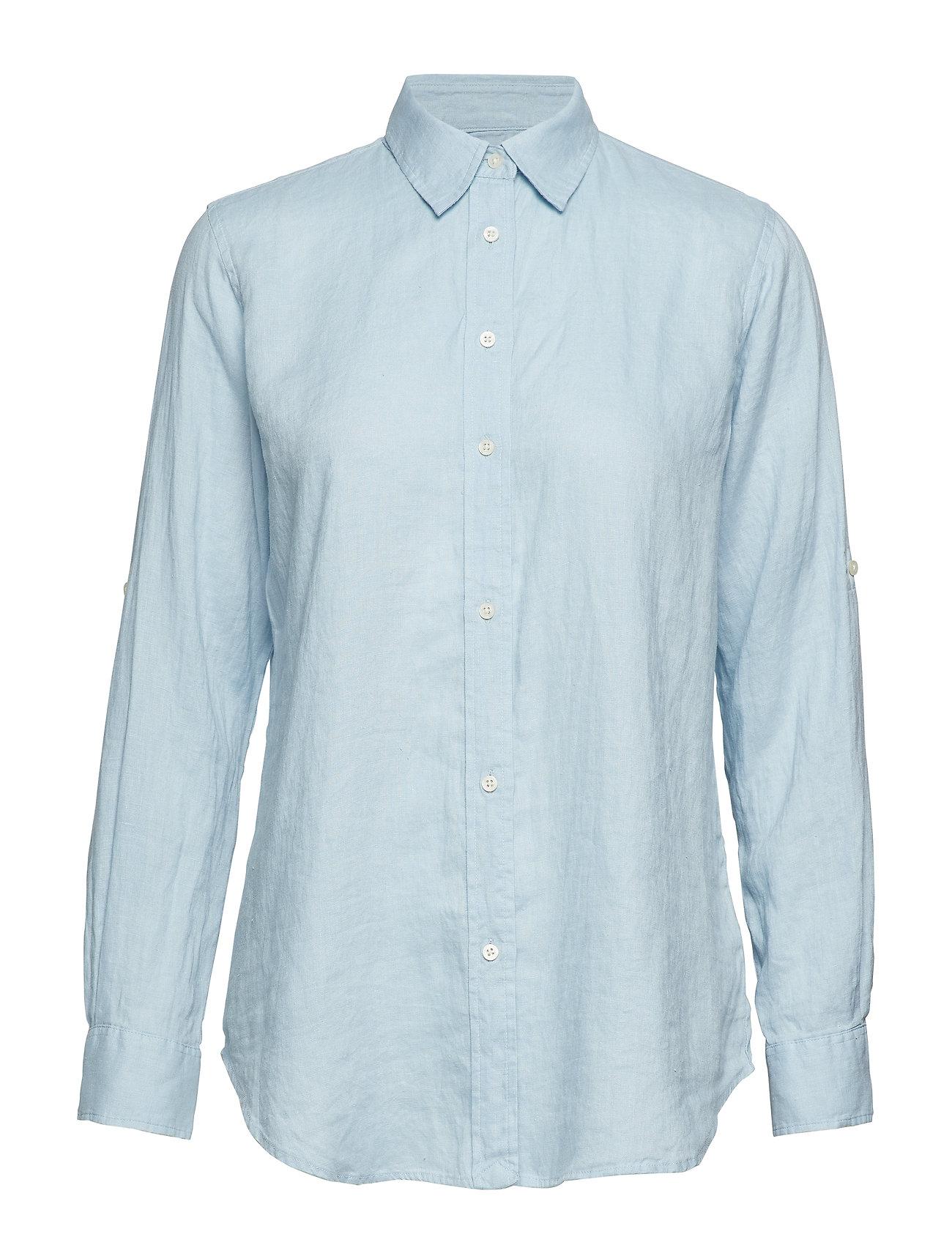 Lauren Ralph Lauren Linen Button-Down Shirt - ENGLISH BLUE