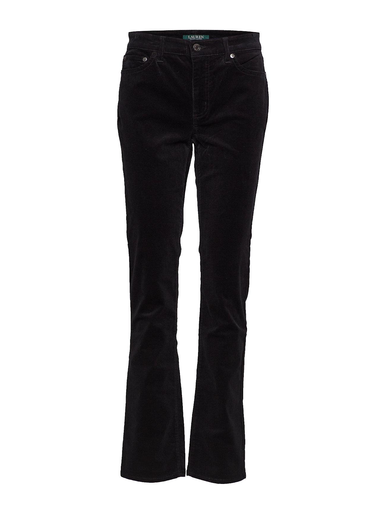 Lauren Ralph Lauren Premier Straight Corduroy Jean - POLO BLACK