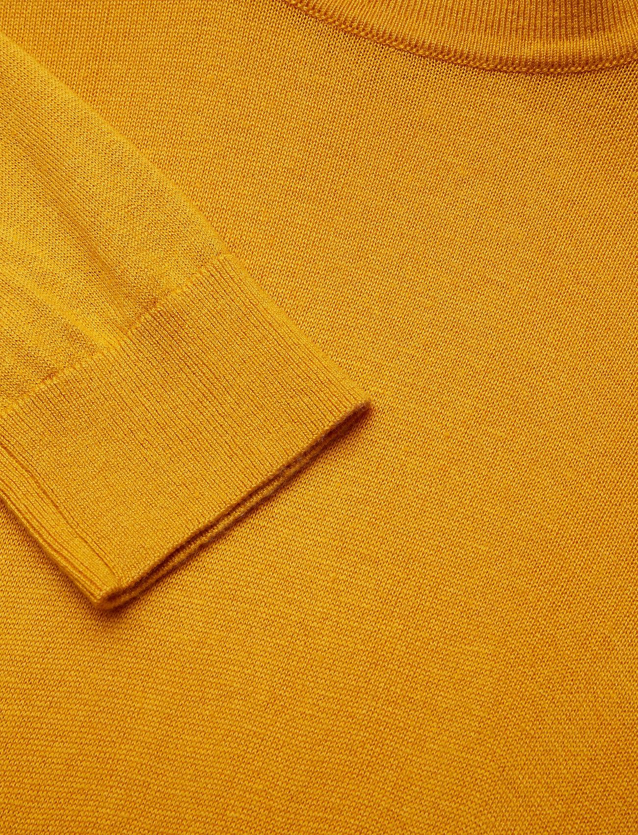 Lauren Ralph Lauren Ribbed Silk-Blend Turtleneck - Dzianina ARTISAN GOLD - Kobiety Odzież.