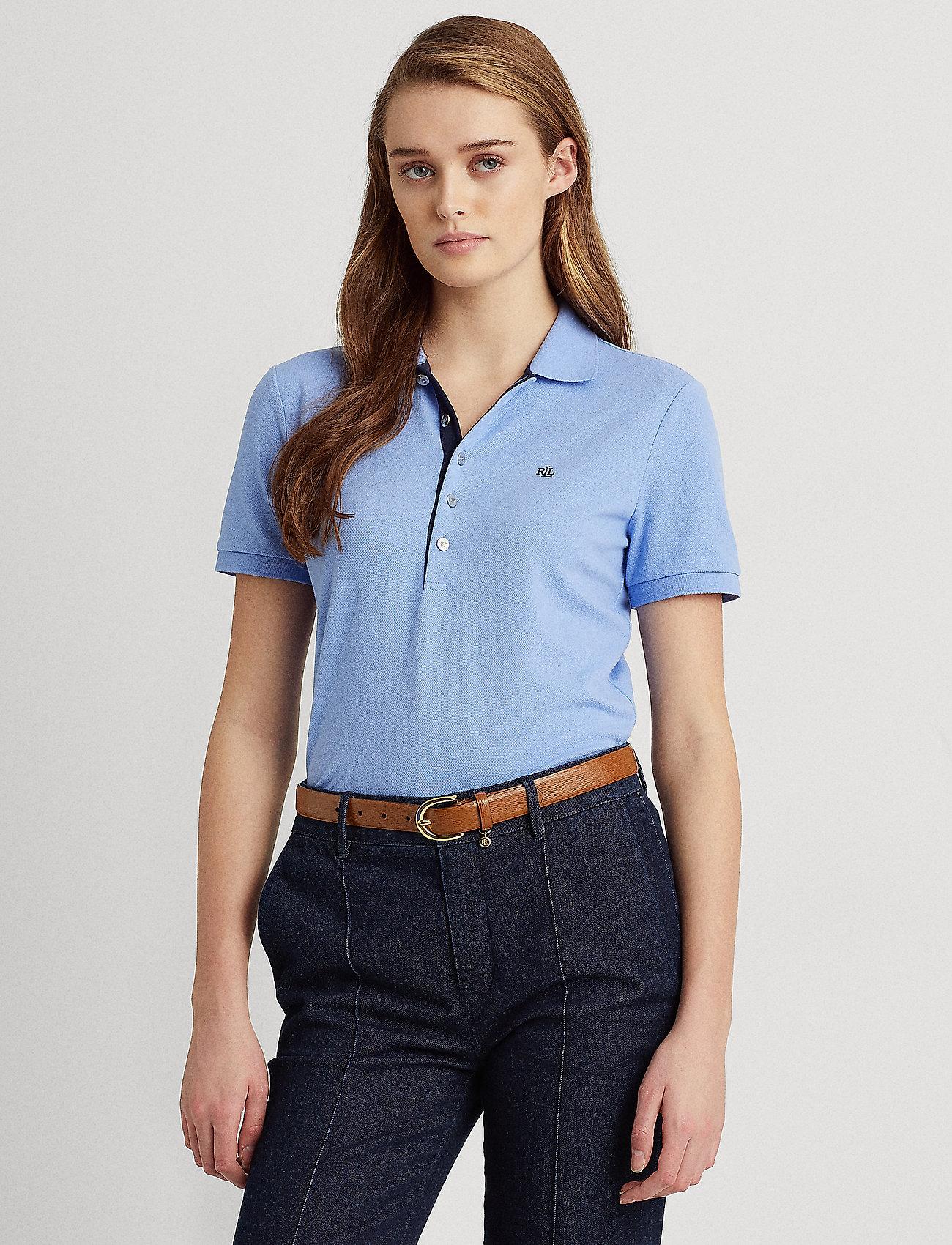 Lauren Ralph Lauren - Piqué Polo Shirt - polohemden - cabana blue - 0