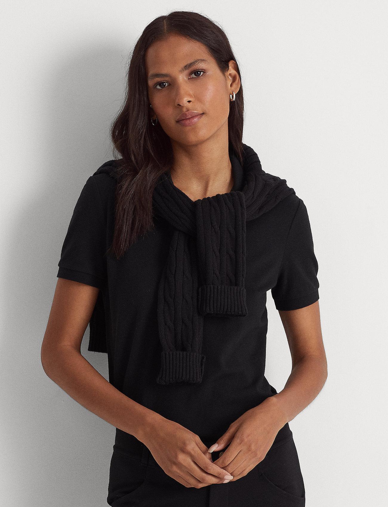 Lauren Ralph Lauren - Piqué Polo Shirt - poloskjorter - polo black - 0