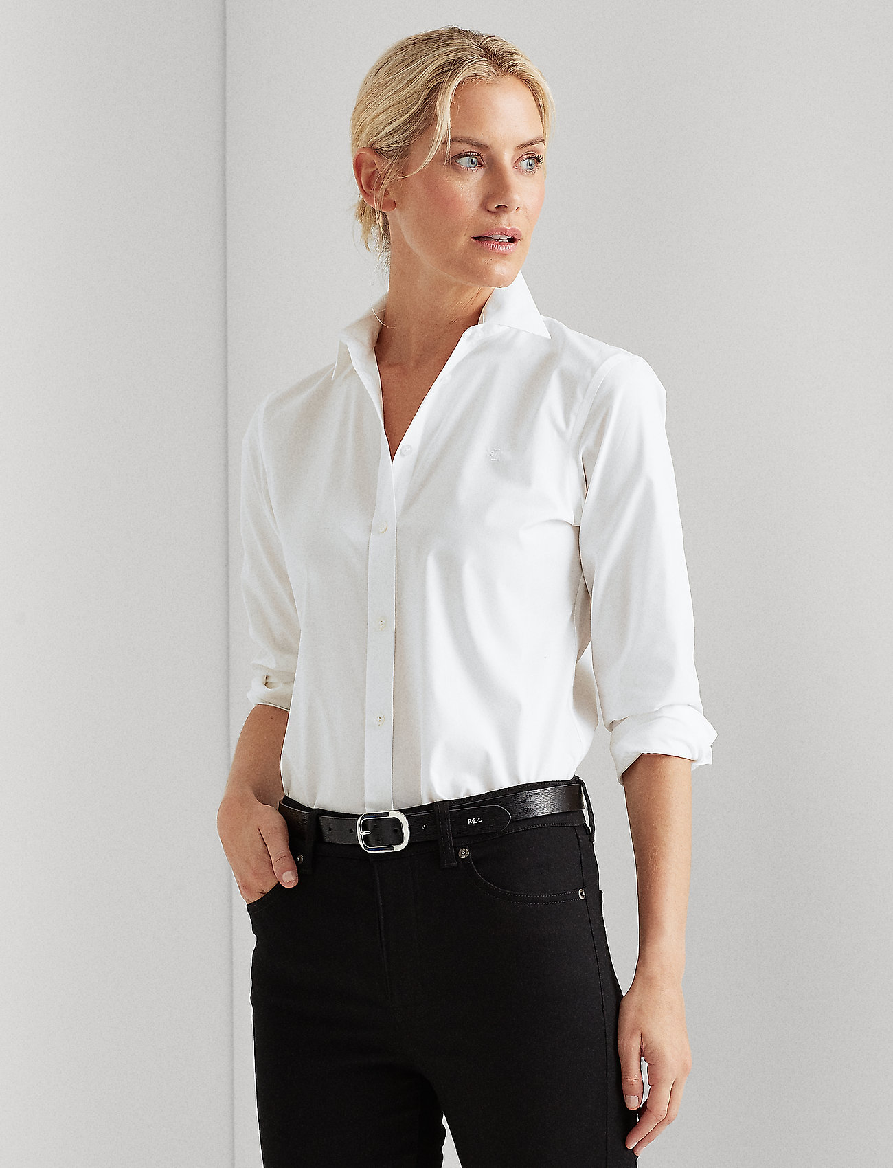 Lauren Ralph Lauren - Easy Care Cotton-Blend Shirt - chemises à manches longues - white - 0