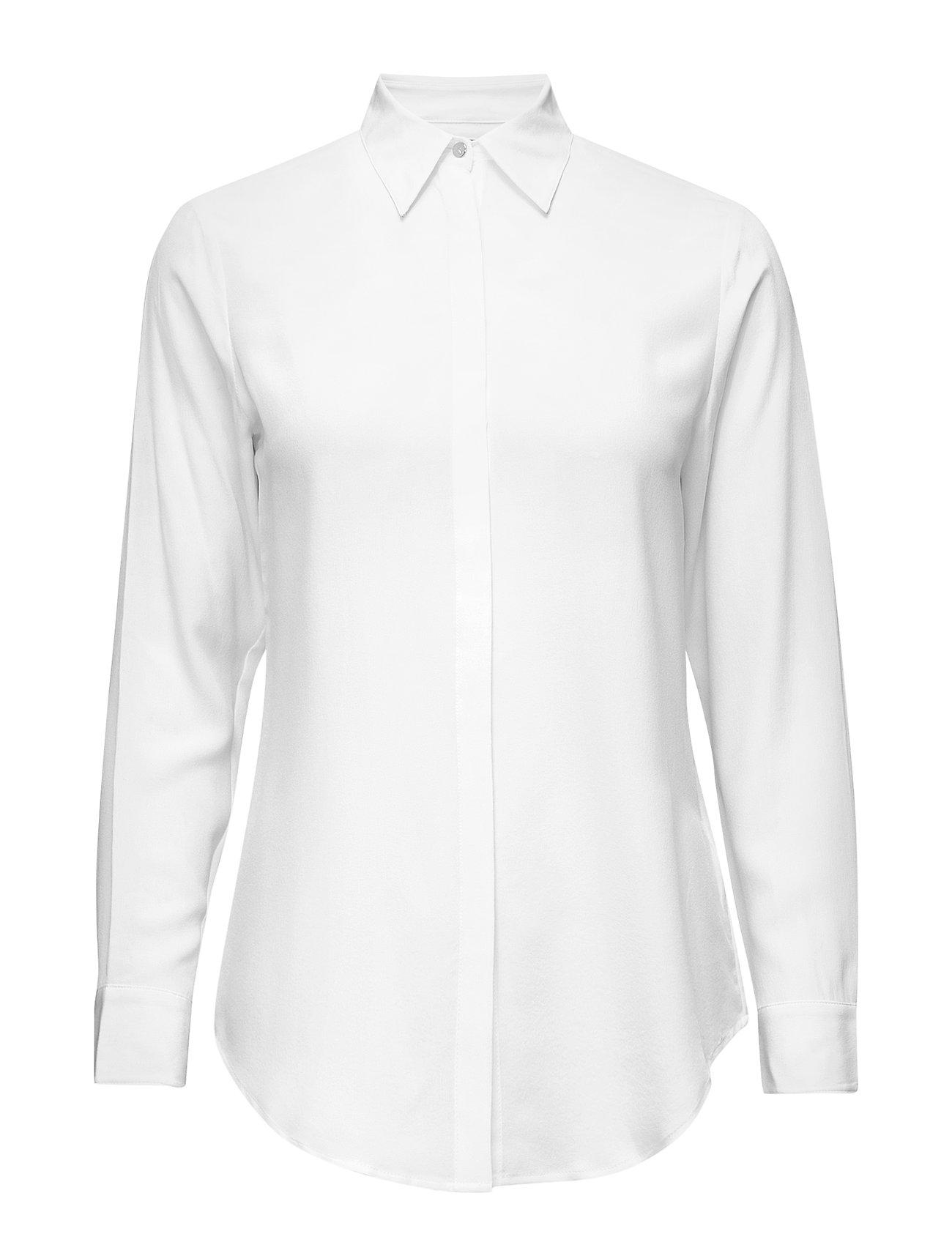 CreamLauren Button Ralph down Shirtmascarpone Crepe Silk 8Xw0OnkP