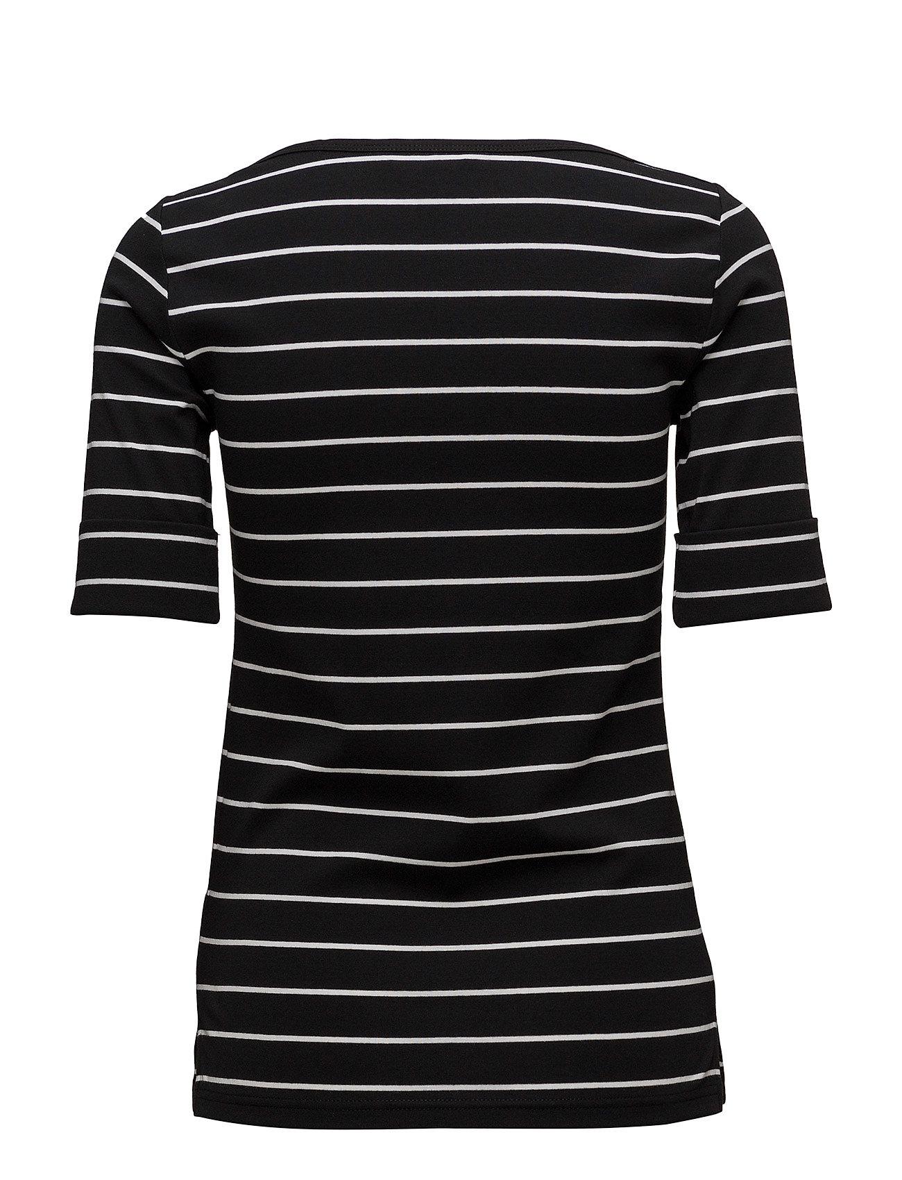Elbow Knit whiteLauren Black length Toppolo Ralph sleeve 34Rj5cqAL