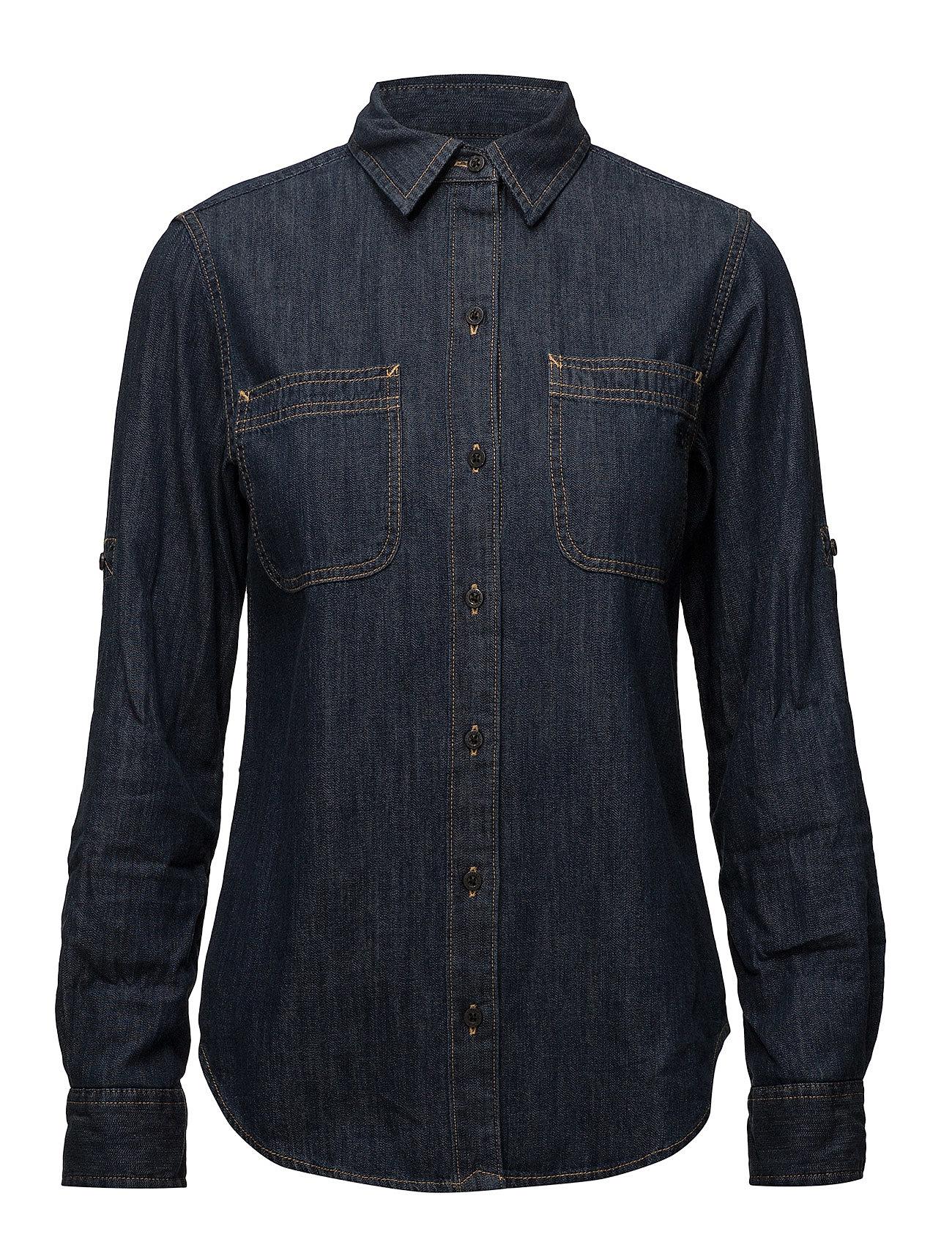 Lauren Ralph Lauren Denim Button-Down Shirt - SAPPHIRE WASH