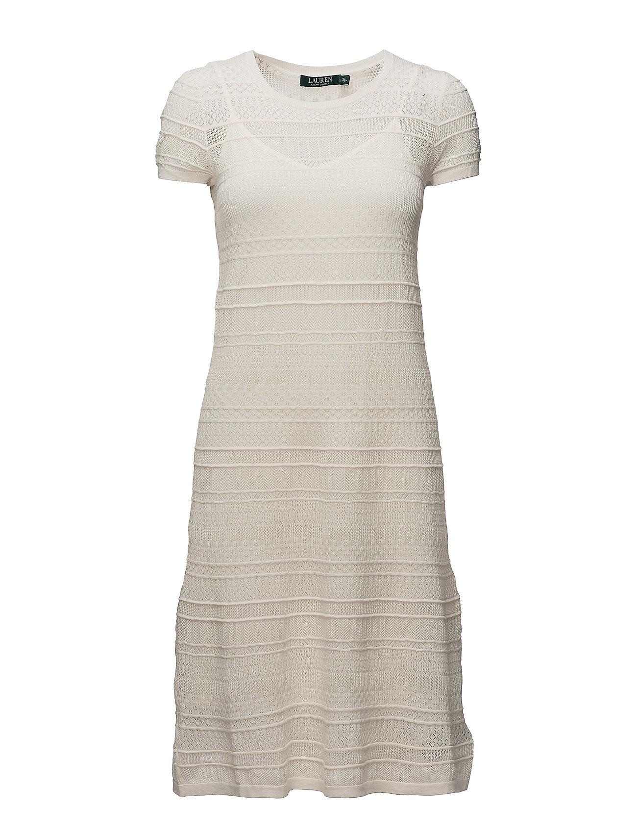Lauren Ralph Lauren COTTON NYLON-S/S CN DRESS - MASCARPONE CREAM