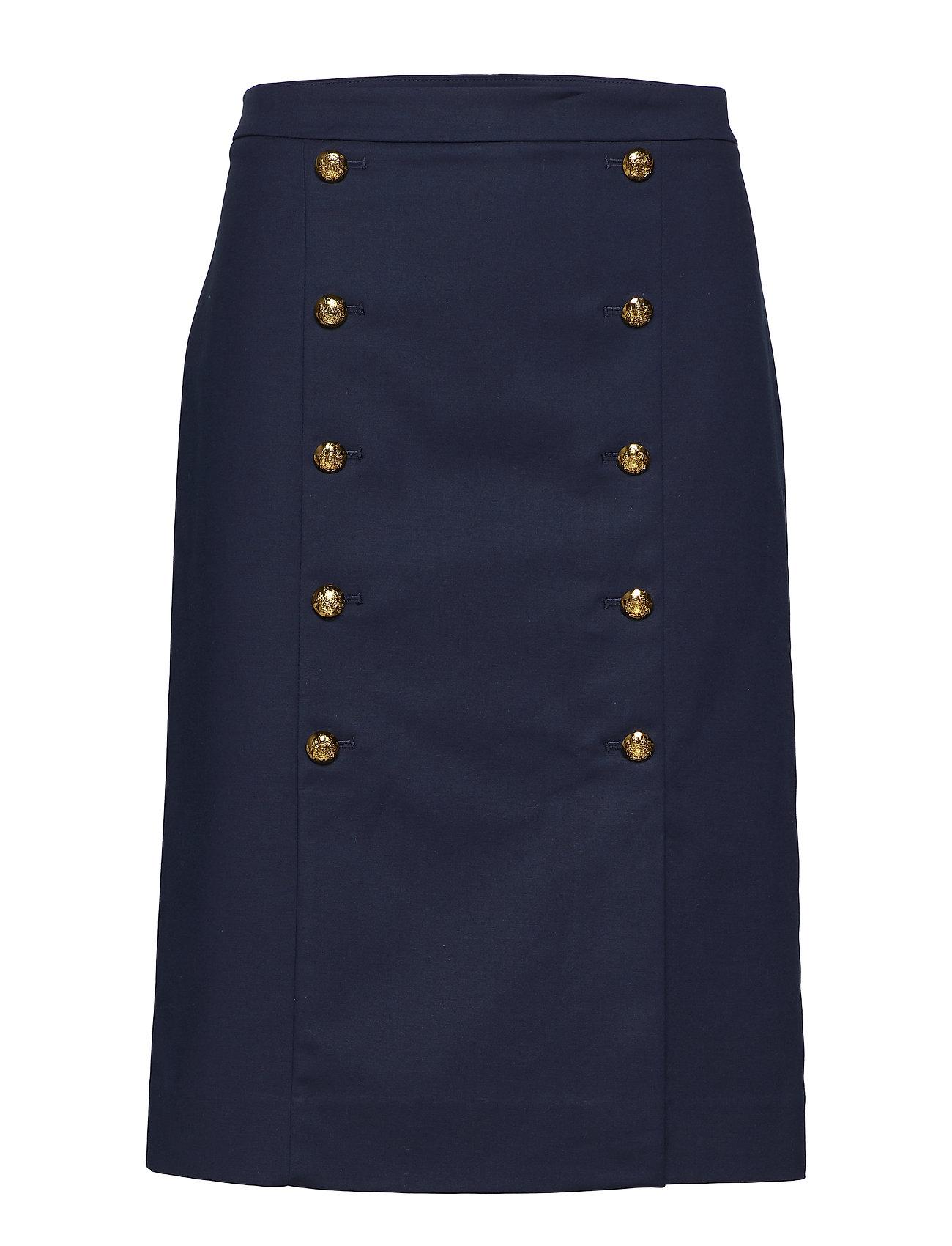 Lauren Ralph Lauren Cotton Blend Midi Skirt Kjolar