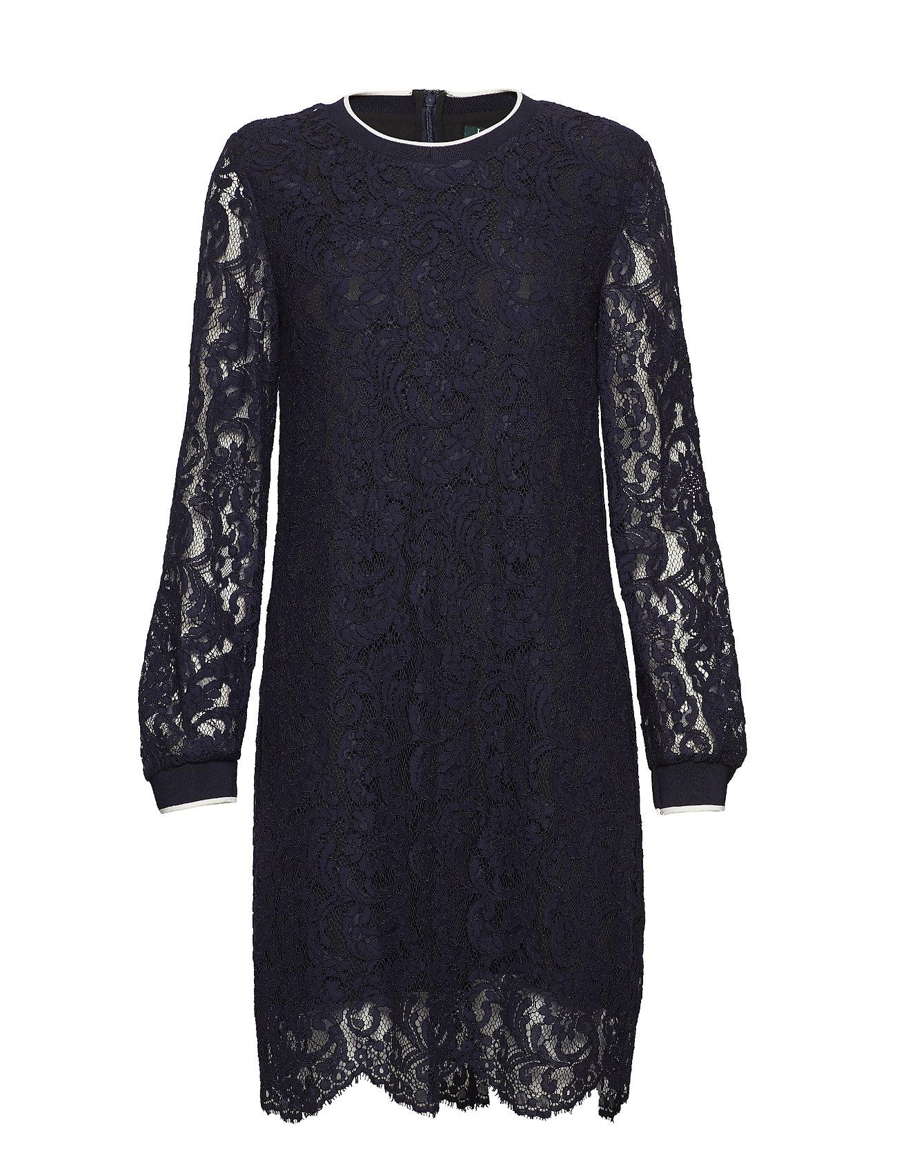 Lauren Ralph Lauren Stripe Trim Lace Dress Klänningar