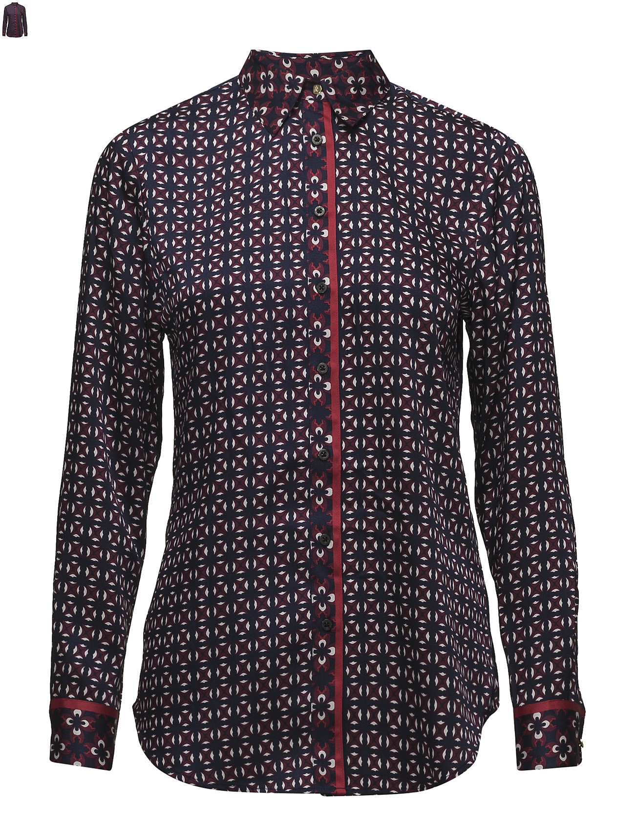 Lauren Ralph Lauren Print Twill Button Down Shirt Ögrönlar