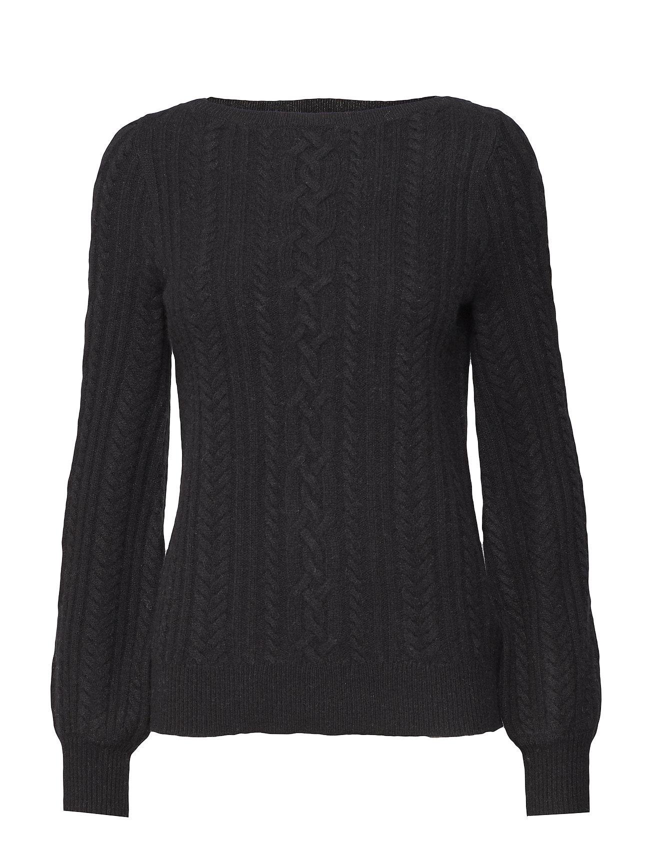 Lauren Ralph Lauren Cable Puff Sleeve Sweater Ögrönlar