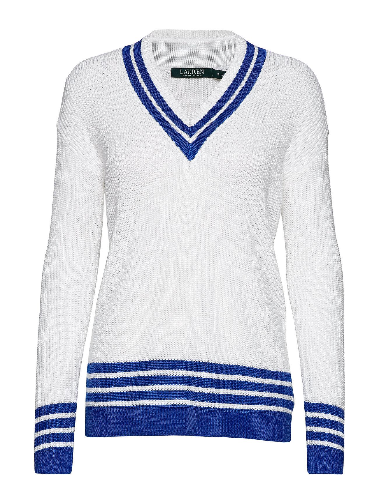Sweatersilk blue Ralph Cricket OLauren White qSzpUMV