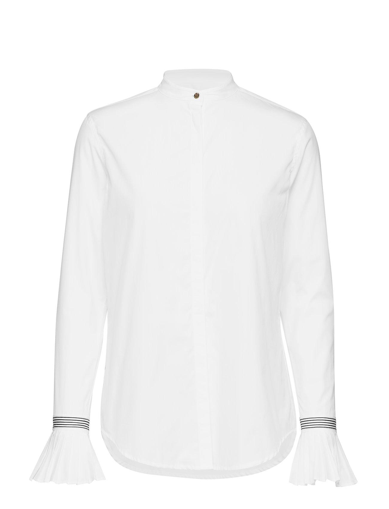 a9f472a0 Pleated-cuff Cotton Shirt (White) (£74.75) - Lauren Ralph Lauren ...