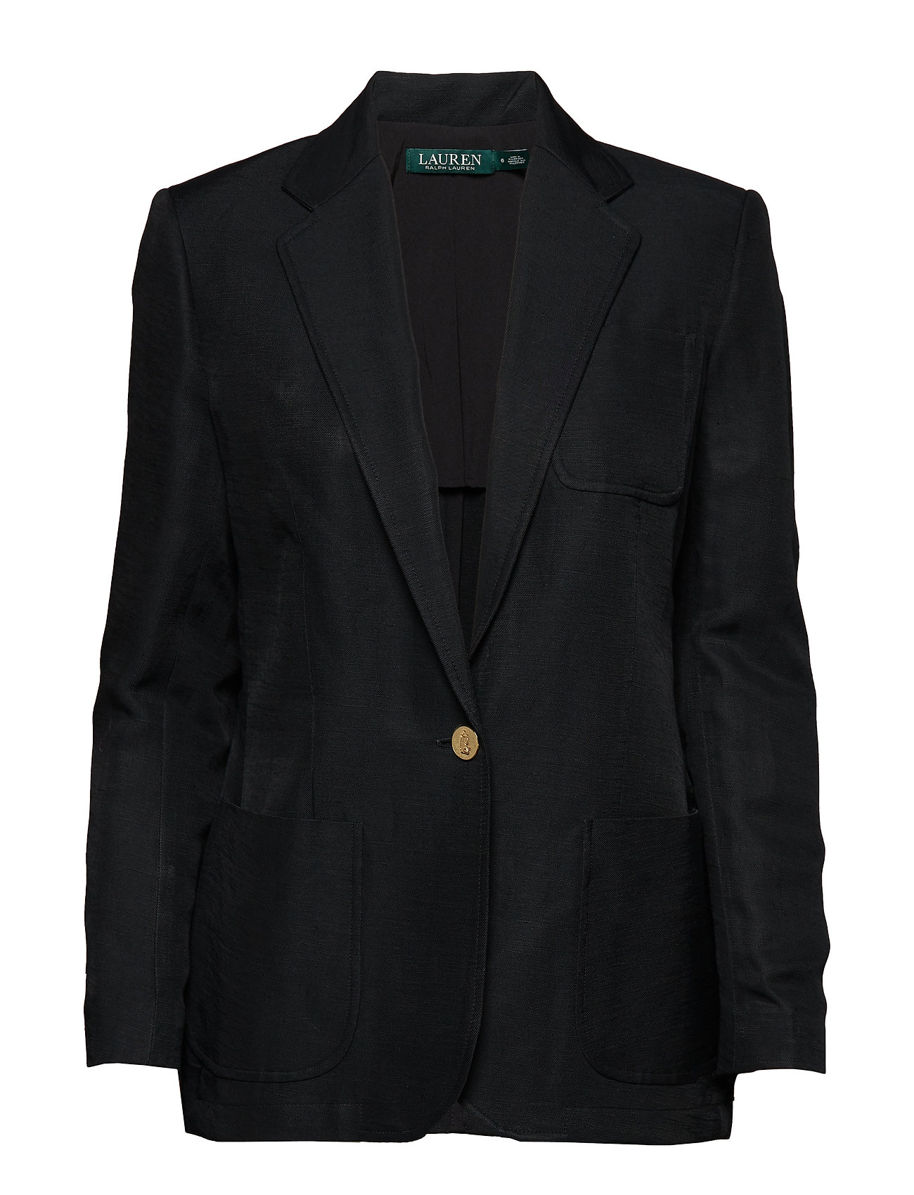 Lauren Ralph Lauren Linen-Blend Twill Blazer - POLO BLACK