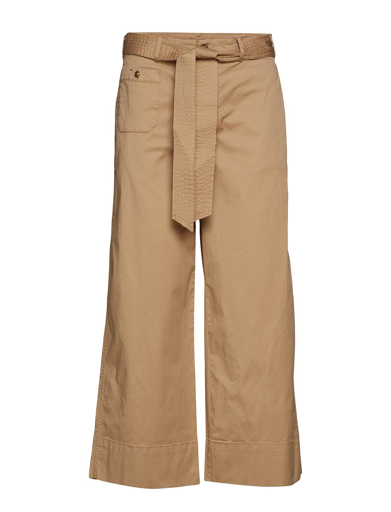 Lauren Ralph Lauren Belted Twill Wide Leg Pant Byxor