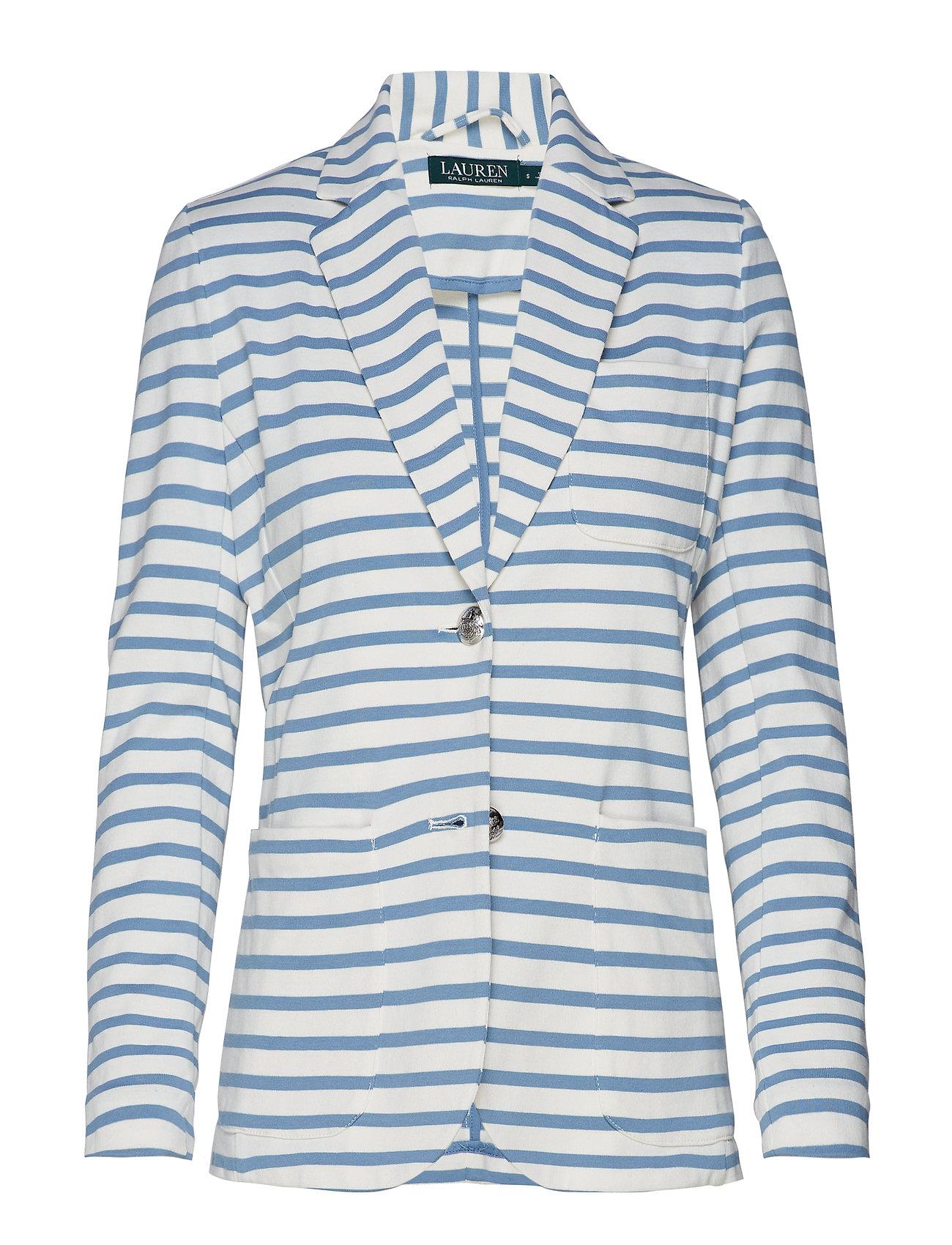 Lauren Ralph Lauren Striped Jersey Blazer - MASCARPONE CREAM/