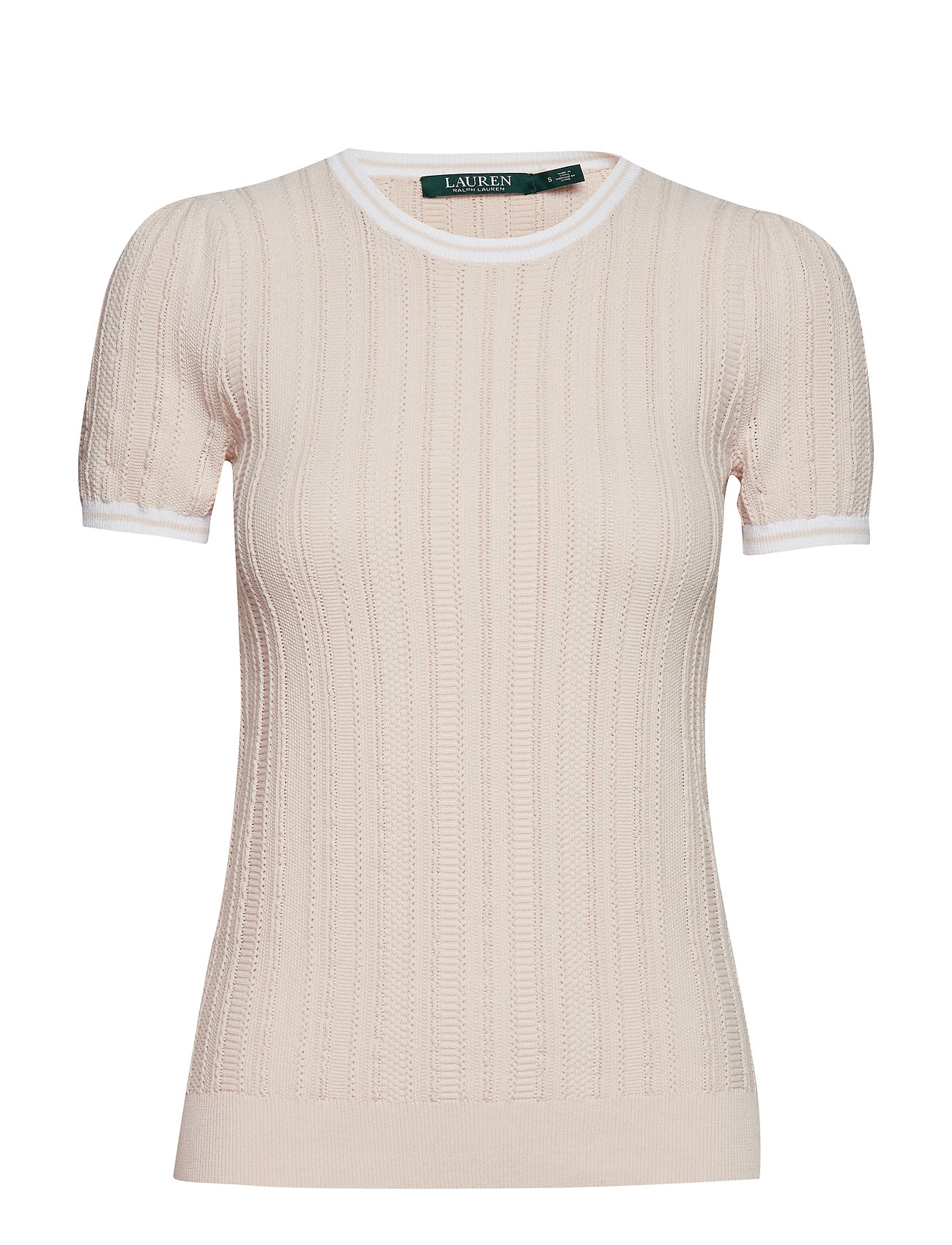Lauren Ralph Lauren Cotton-Blend Sweater - WHITE ROSE/SILK W