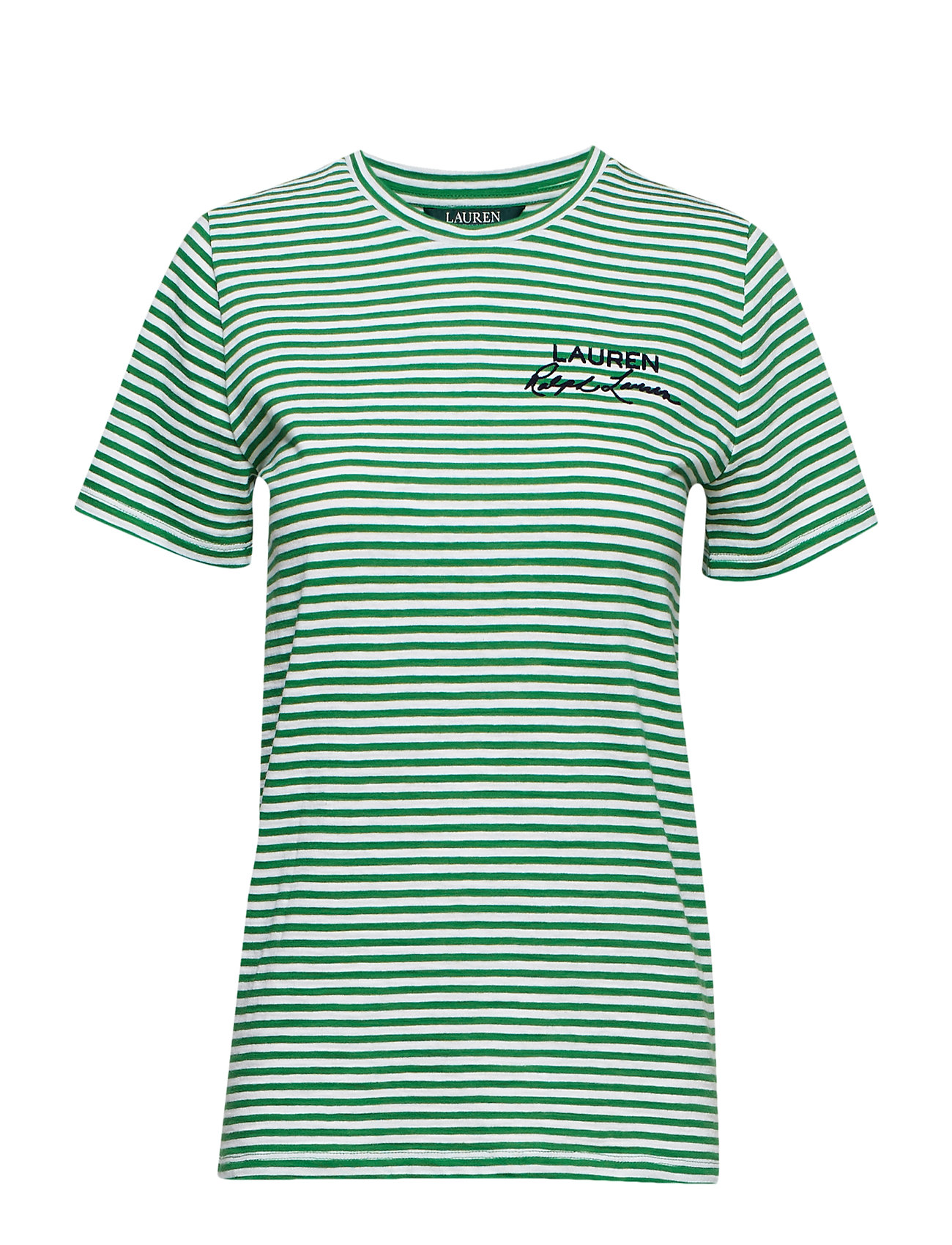 Lauren Ralph Lauren Logo Striped Cotton Tee