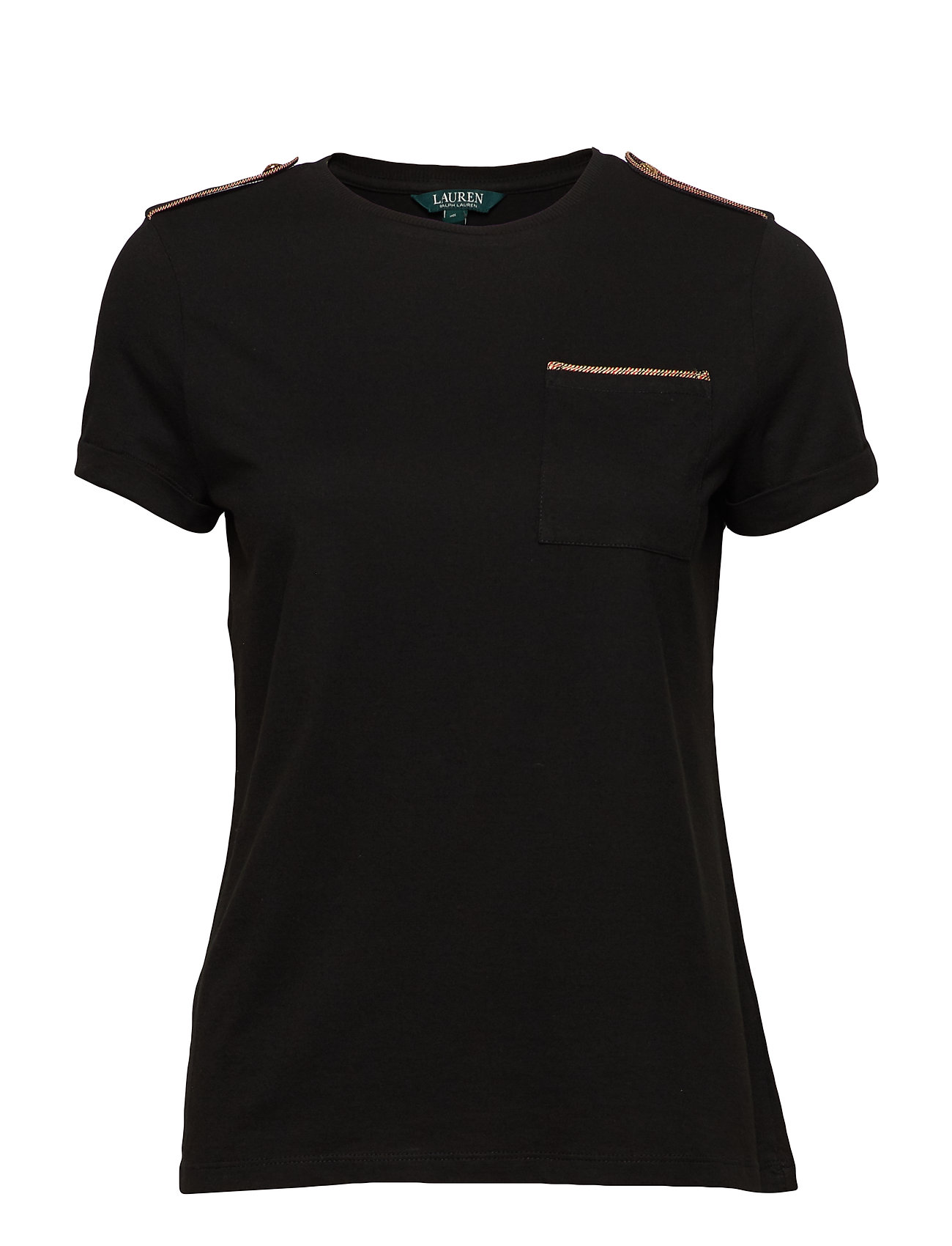 Lauren Ralph Lauren Cotton-Blend Pocket Tee - POLO BLACK