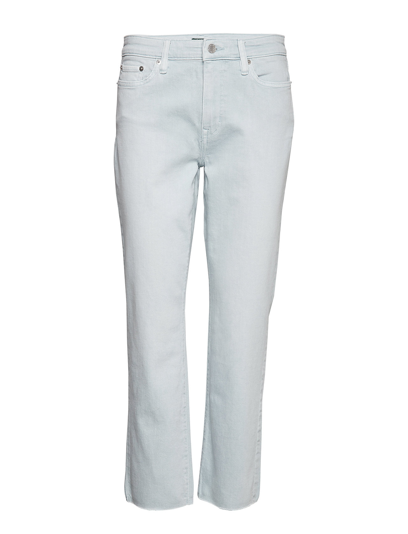 Lauren Ralph Lauren Premier Straight Ankle Jean - ENGLISH BLUE WASH