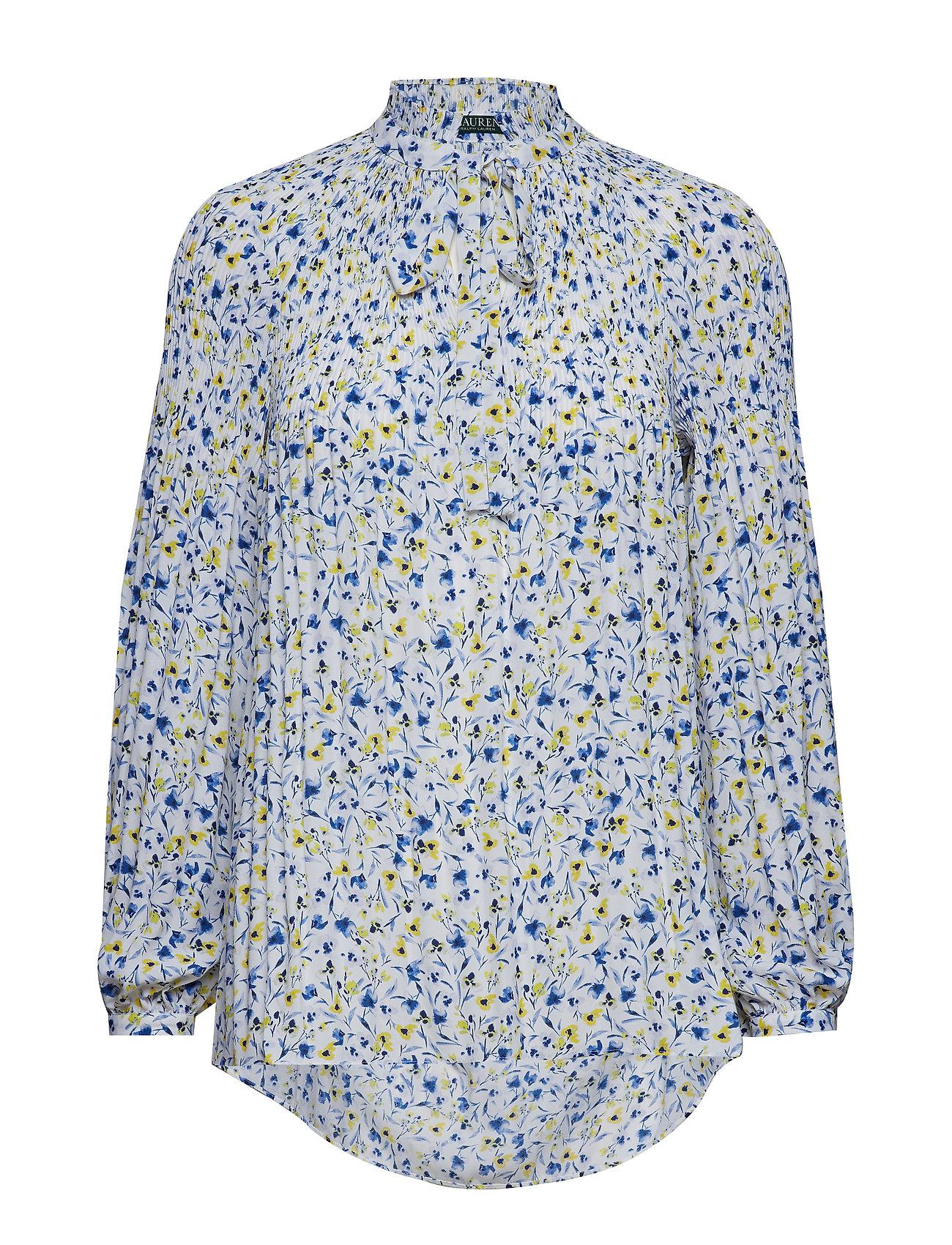 2eddc5638a3c8 Floral-print Georgette Tie-neck Top (Silk White Multi) (£135 ...
