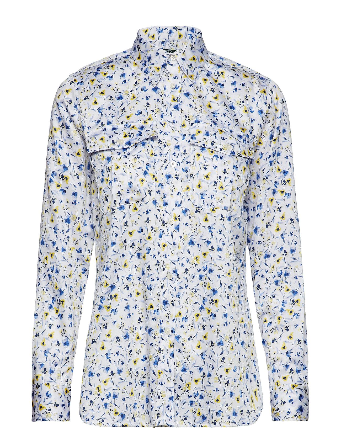 Lauren Ralph Lauren Print Cotton Sateen Shirt Ögrönlar