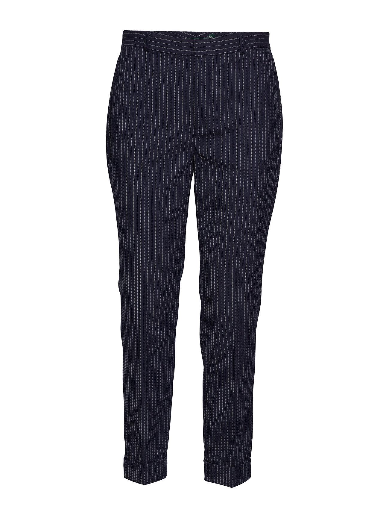 Lauren Ralph Lauren Wool-Blend Skinny Pant - LAUREN NAVY/SILK