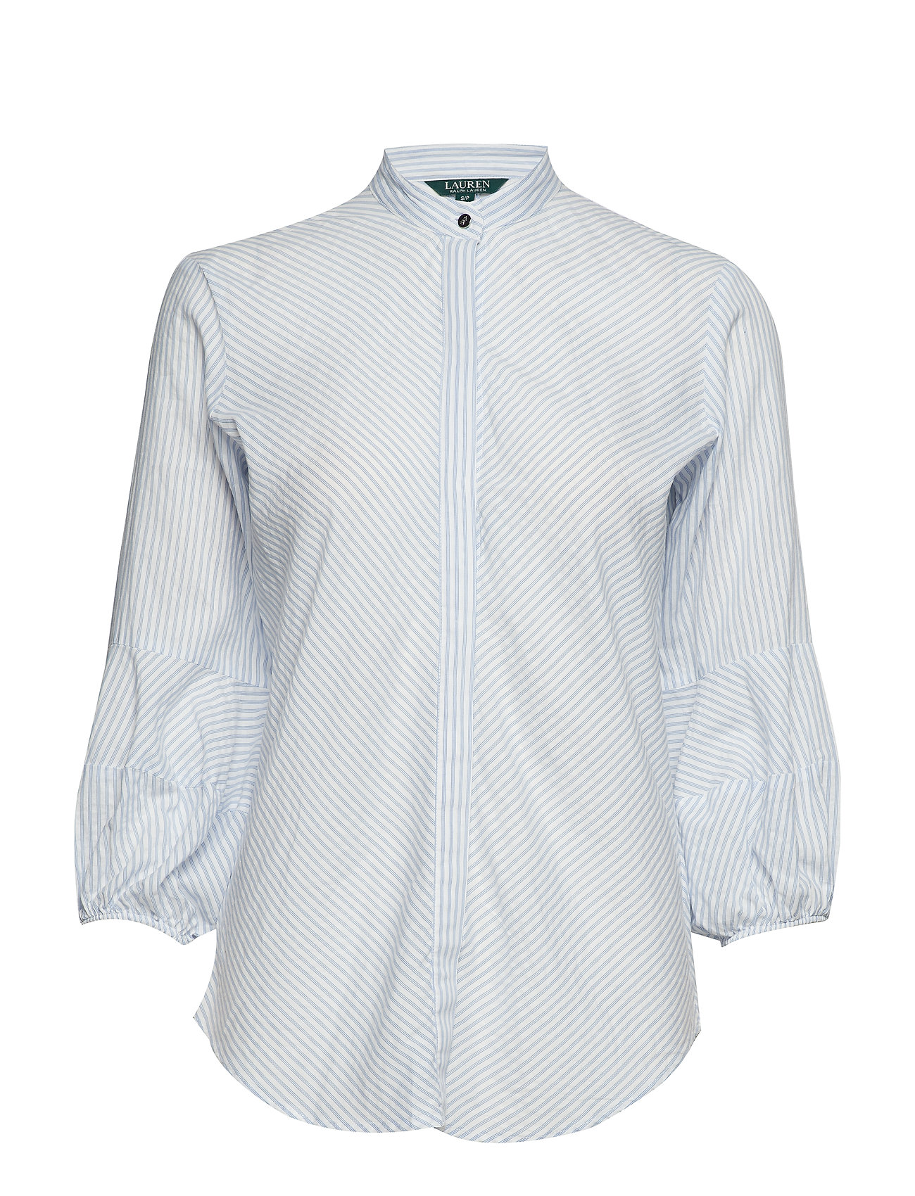Lauren Ralph Lauren Cotton-Blend Puff-Sleeve Shirt