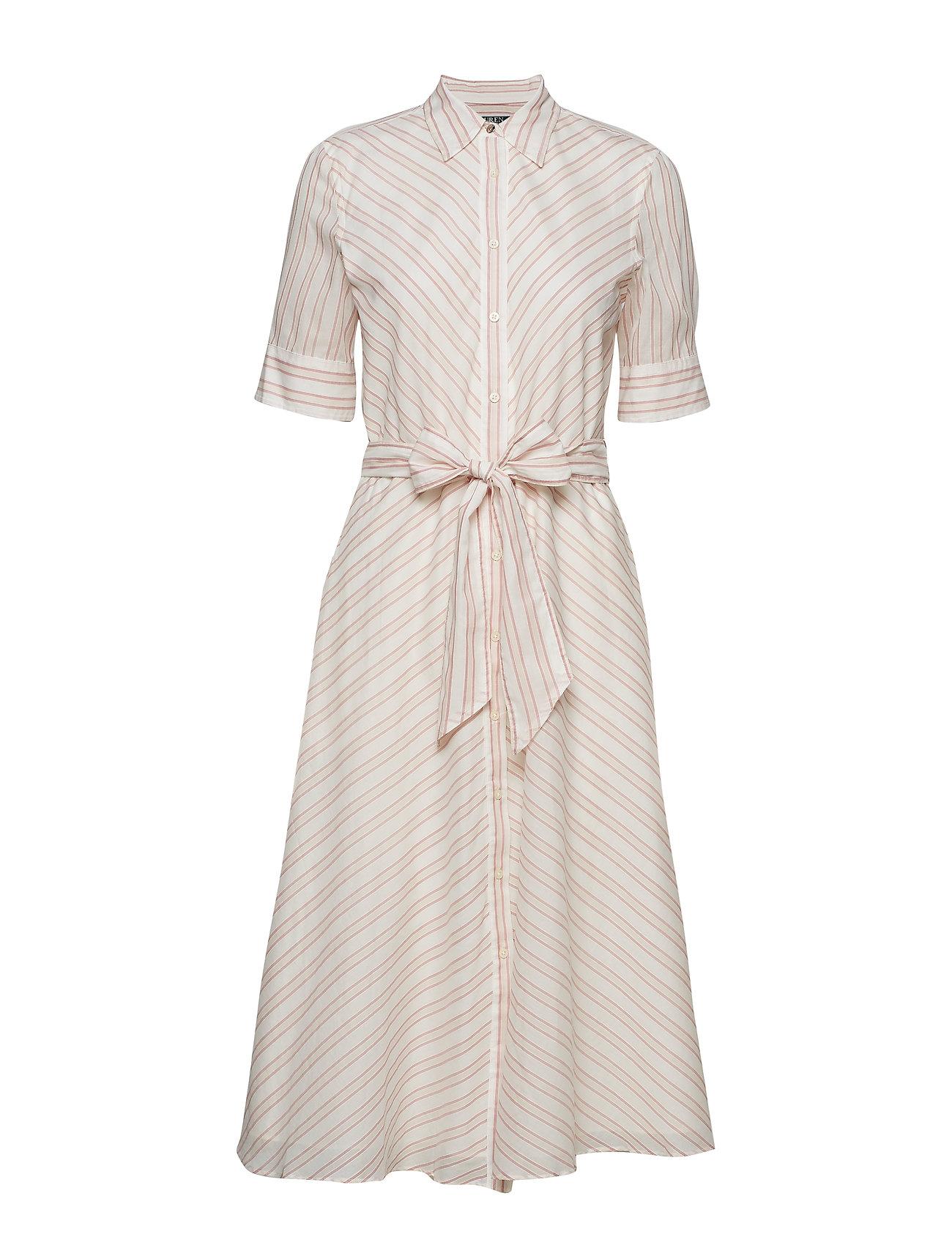 Lauren Ralph Lauren Striped Belted Shirtdress