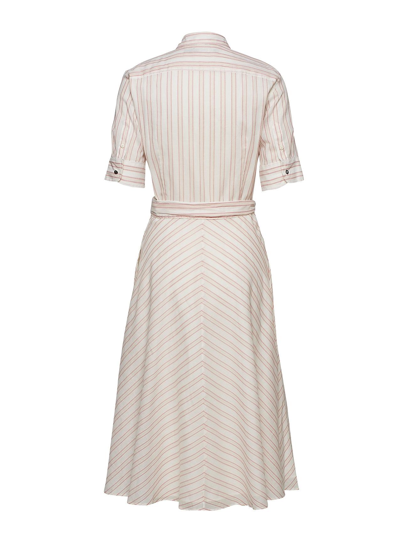Lauren Ralph Lauren - Striped Belted Shirtdress - paitamekot - dry berry multi