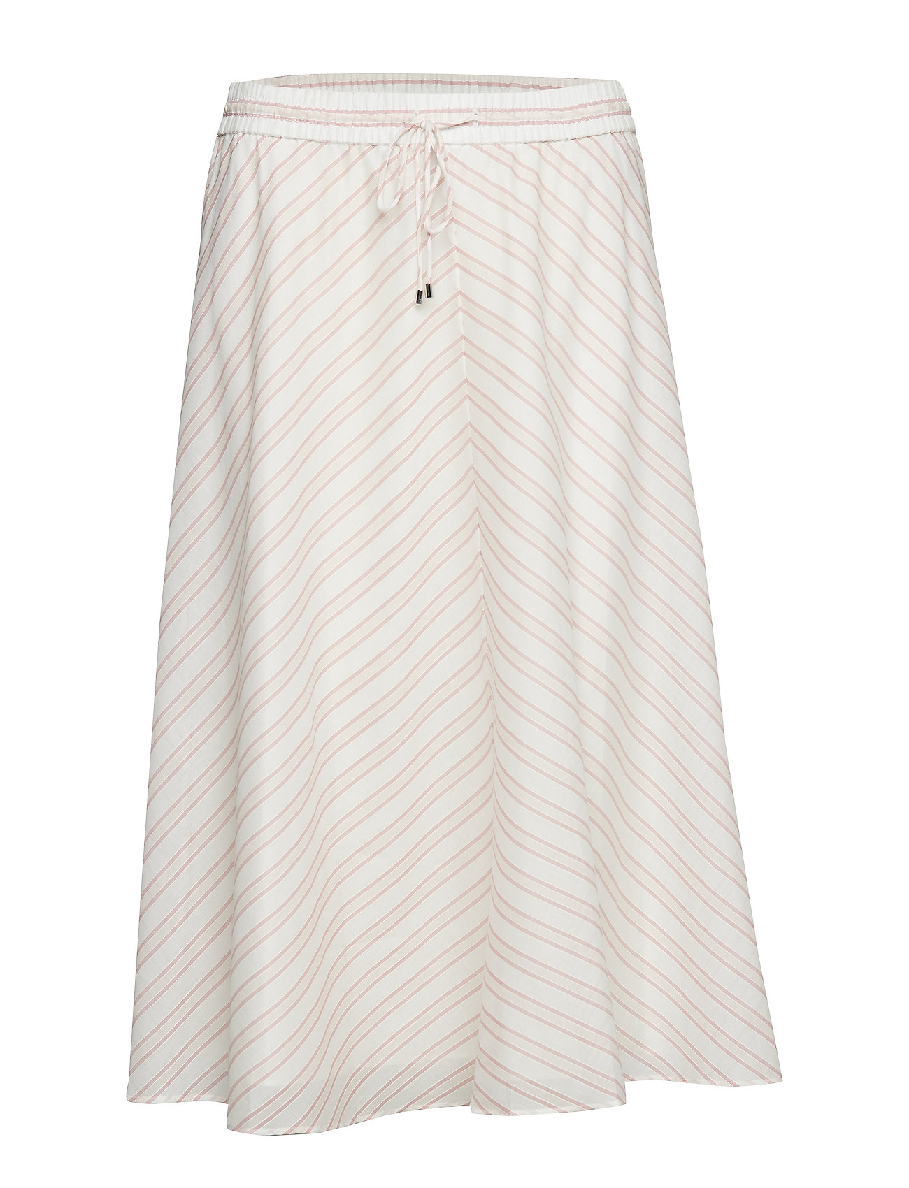 Lauren Ralph Lauren Mitered-Stripe Cotton Skirt - DRY BERRY MULTI
