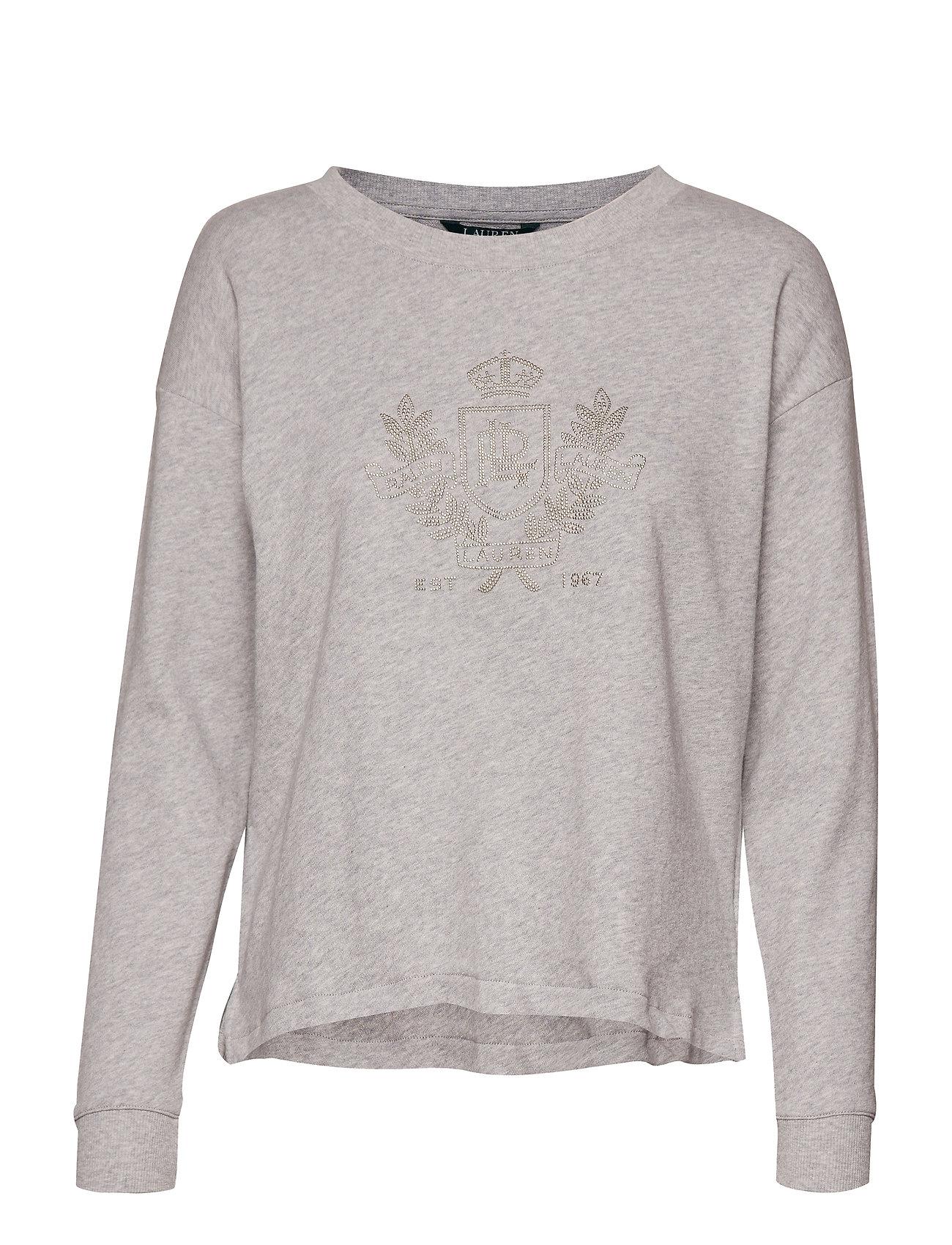 Lauren Ralph Lauren Logo French Terry Sweatshirt - PEARL GREY HEATHE