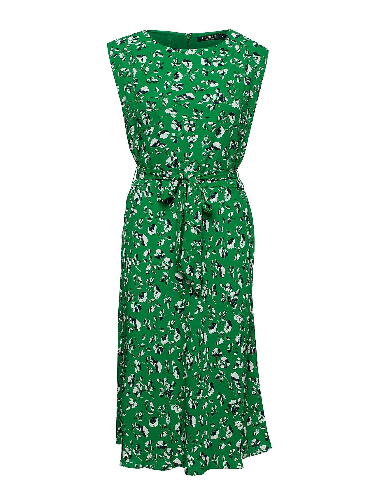 Lauren Ralph Lauren Floral Georgette Dress - CAMBRIDGE GREEN M