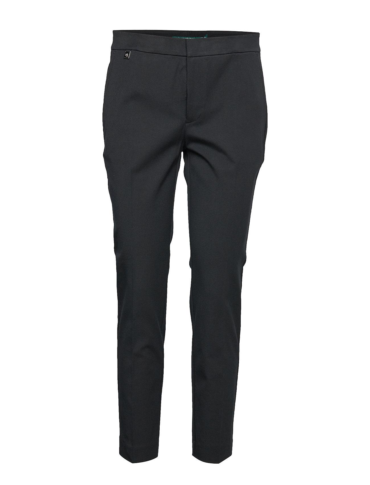 Lauren Ralph Lauren Cotton Twill Skinny Pant - BLACK