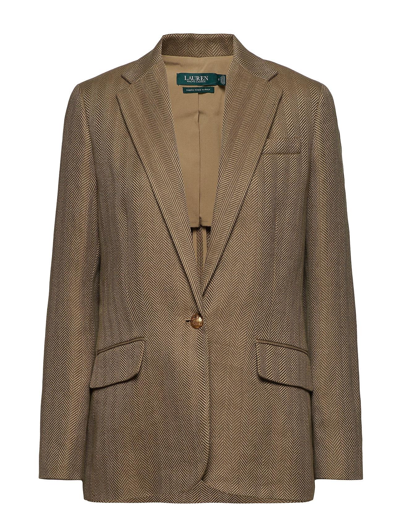 Lauren Ralph Lauren Herringbone Tweed Blazer - SAGE