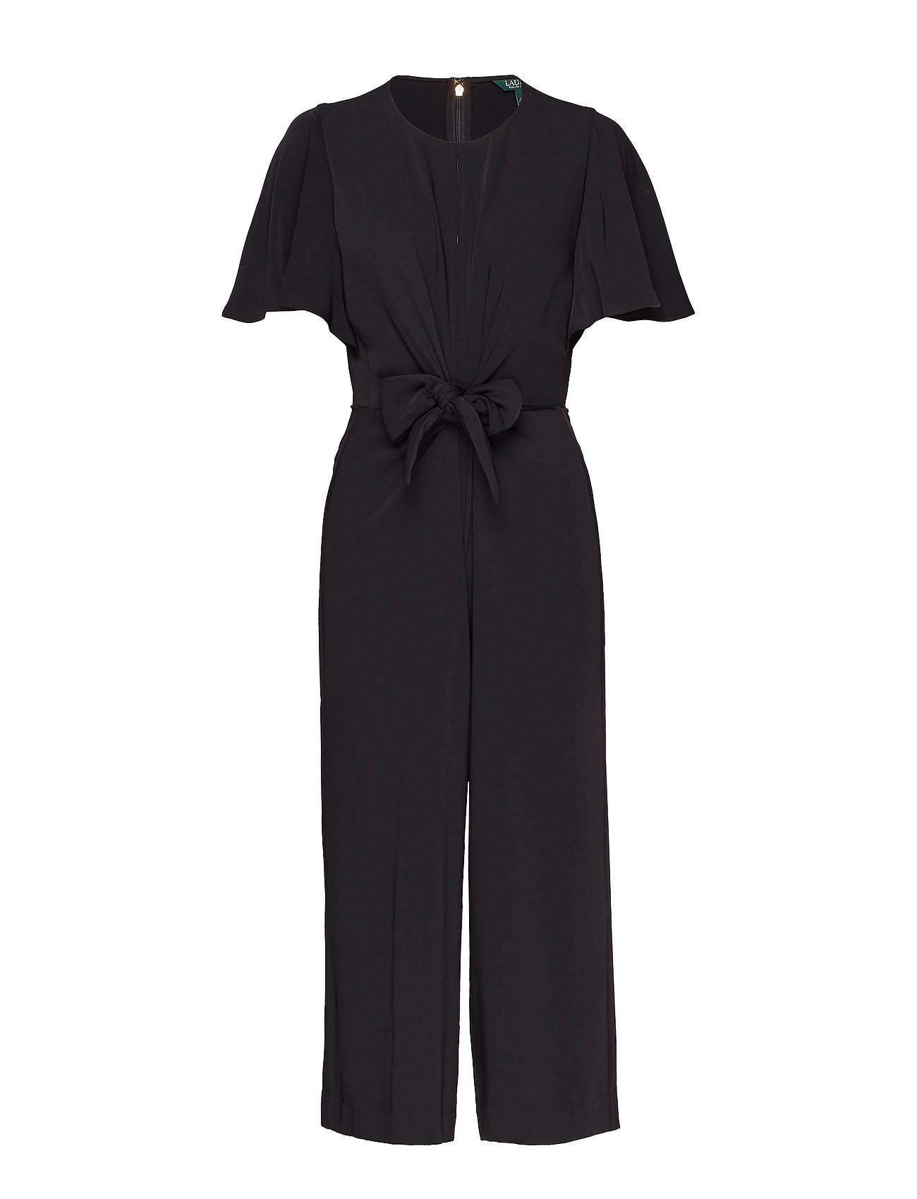 Lauren Ralph Lauren Crepe Keyhole Jumpsuit - POLO BLACK
