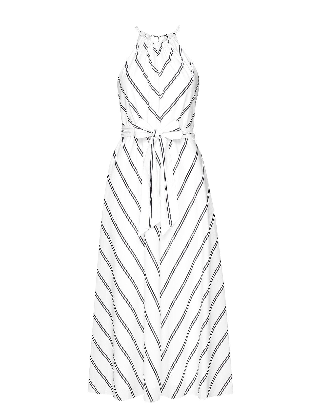 Lauren Ralph Lauren Striped Halter Dress - SILK WHITE/POLO B